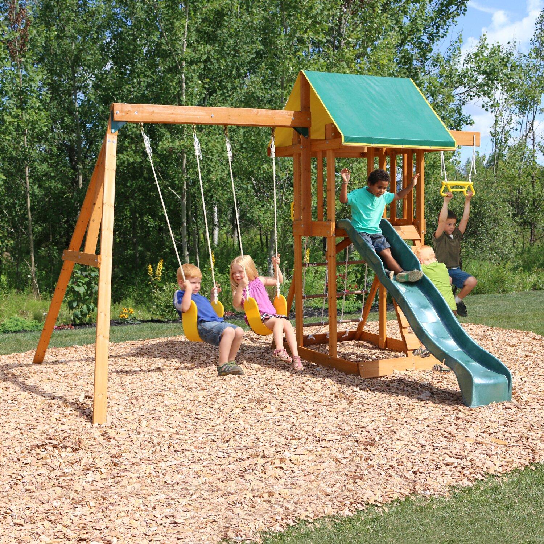 Backyard Swings: Viv + Rae Scout Meadowvale Wooden Swing Set & Reviews