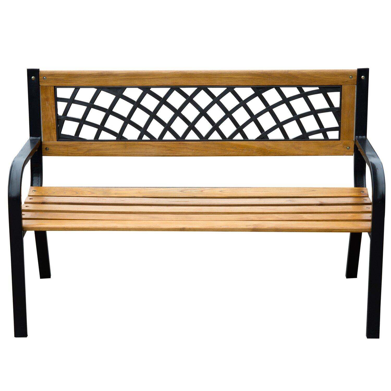 Modern Wood Bench : Outdoor Patio Furniture ... Outdoor Benches Outsunny SKU: OTSU1052