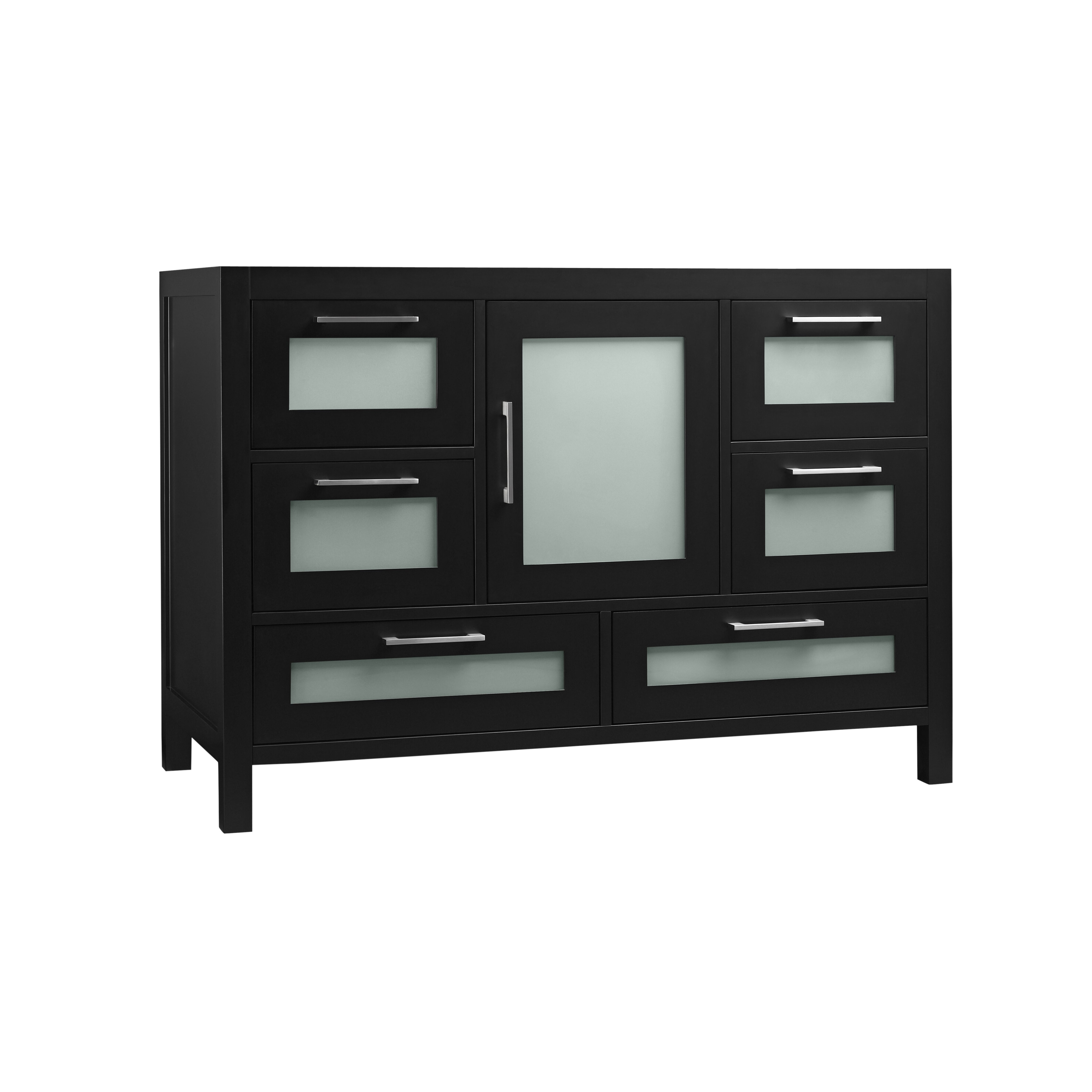 athena 48 bathroom vanity base cabinet in black wayfair