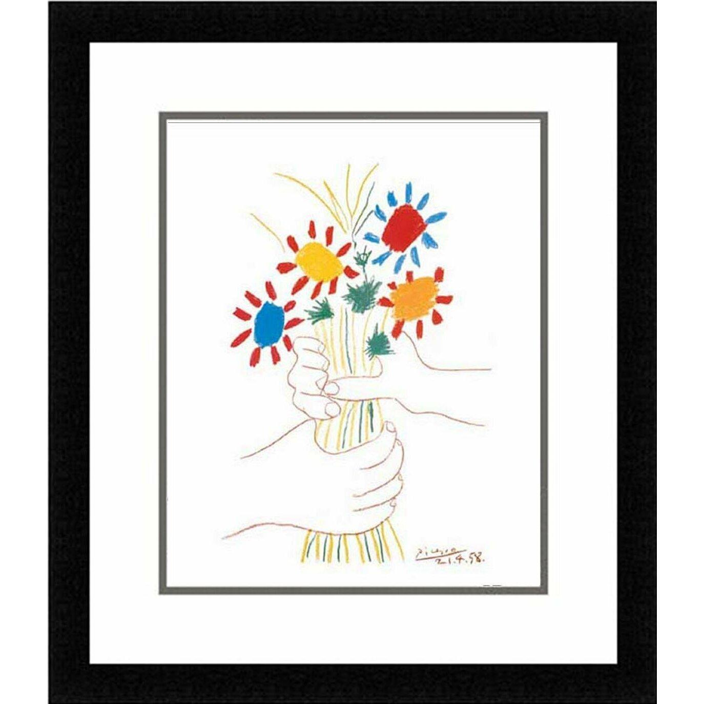 Buy art for less petite fleurs by pablo picasso framed for Picasso petite fleurs