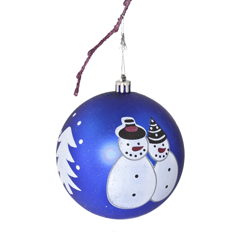 3 9 Quot Shatterproof Handpainted Snowman Christmas Ball