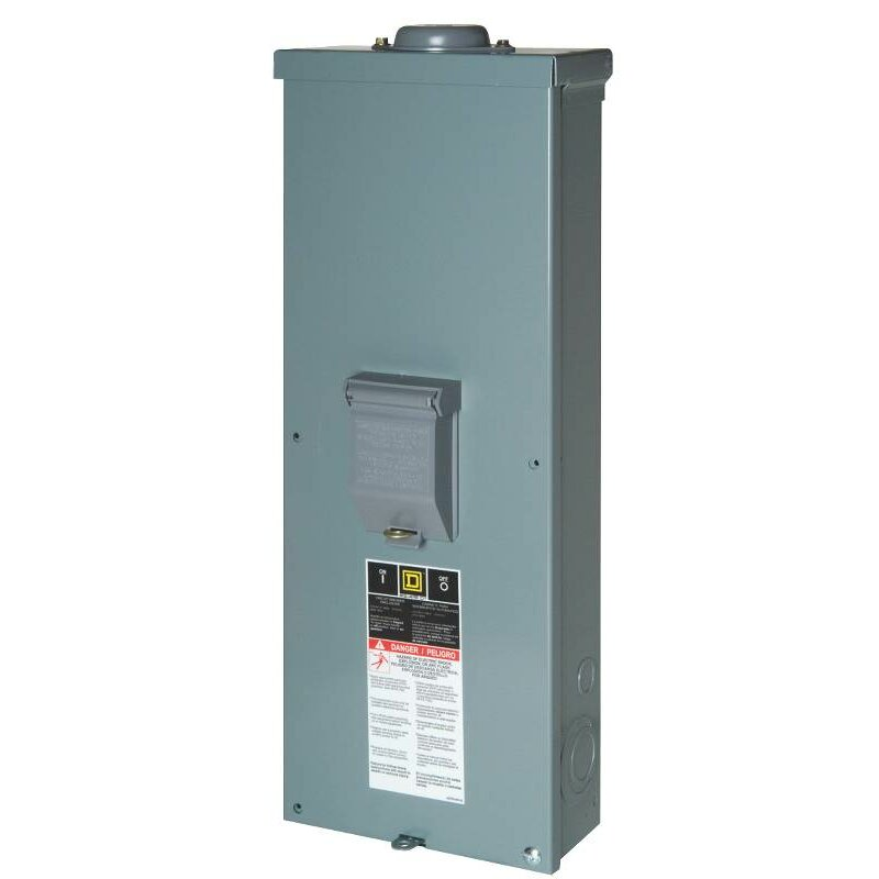200 Amp Manual with Enclosed Circuit Breaker by Square D