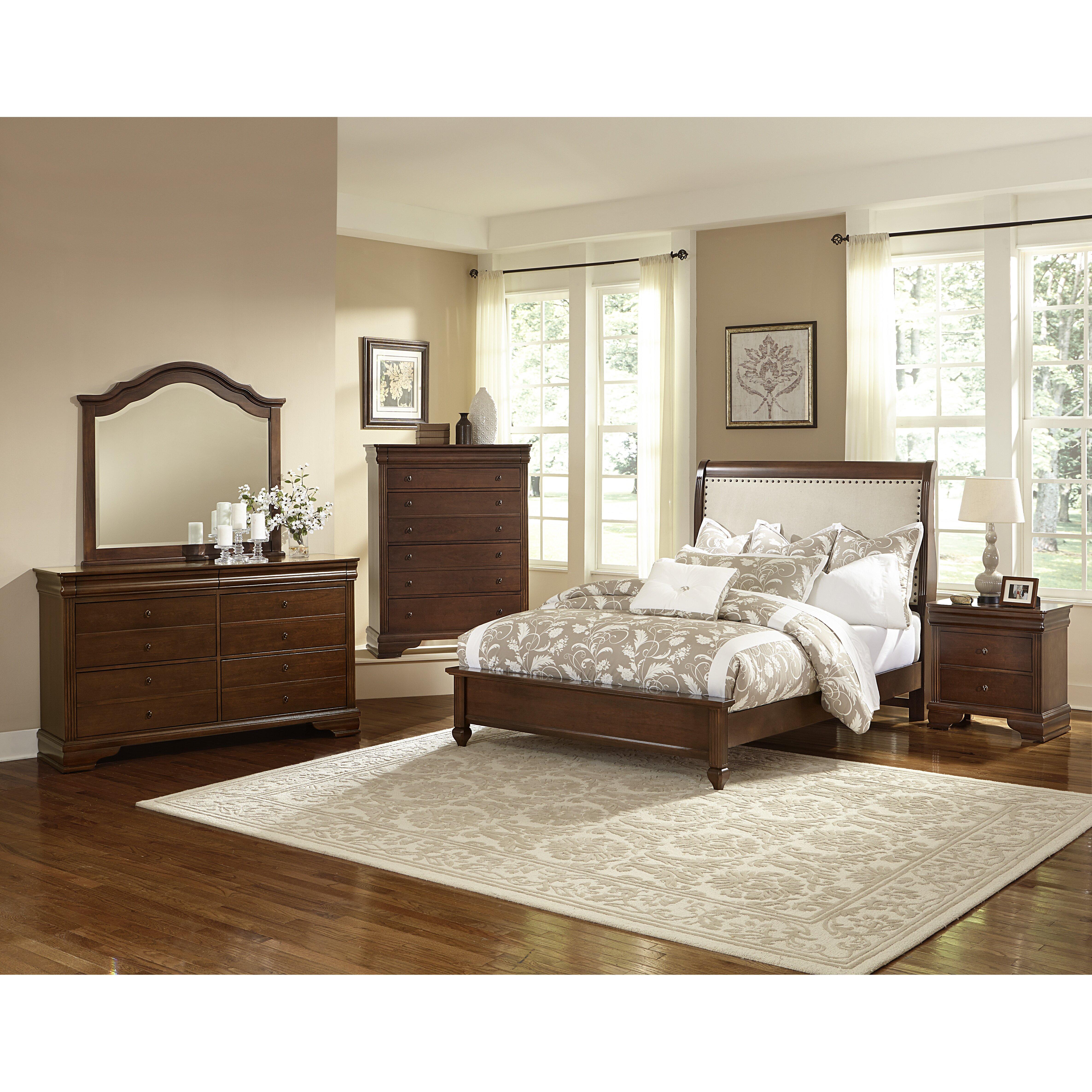 virginia house french market upholstered customizable bedroom set