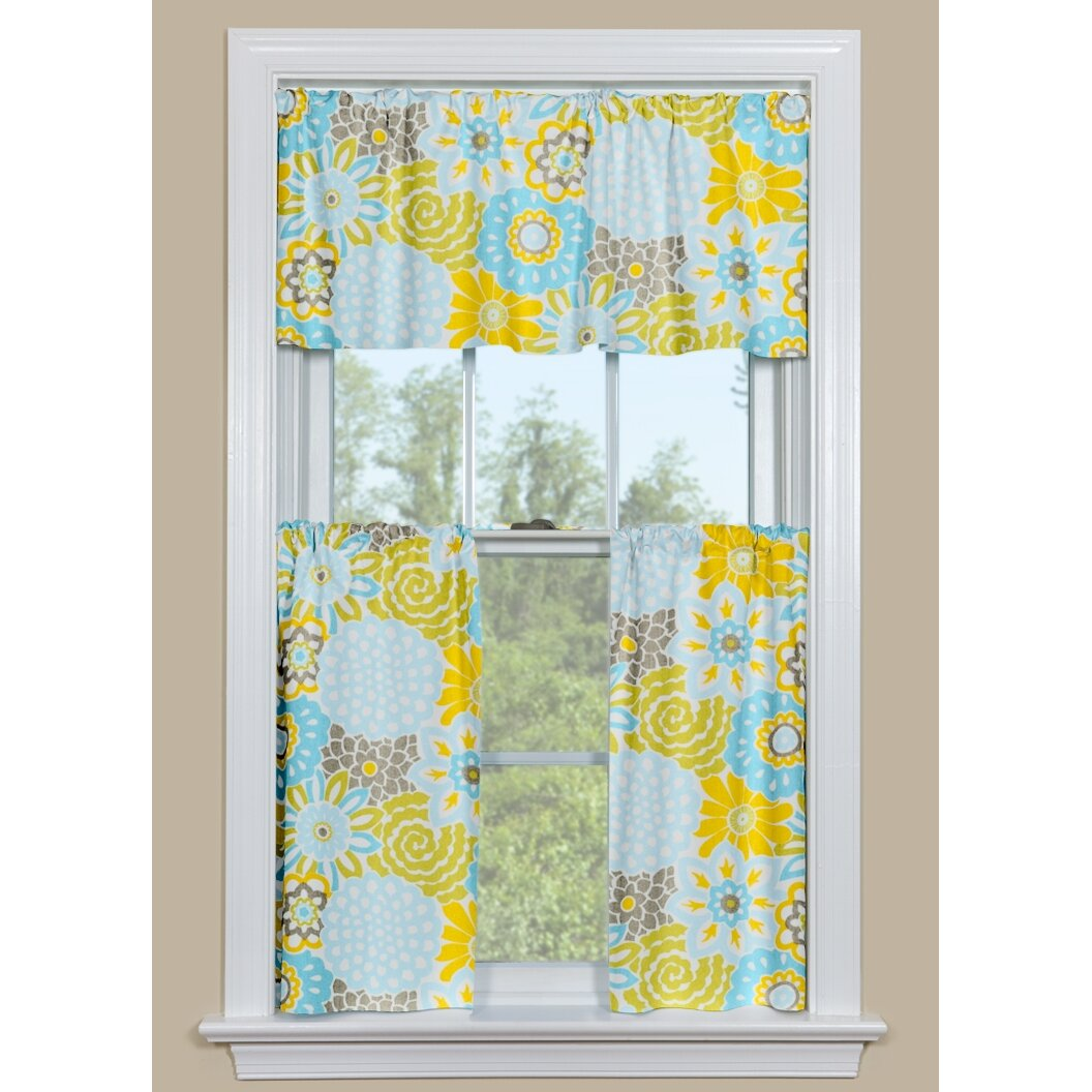 """Button Blooms Spa 50"""" Curtain Valance"""