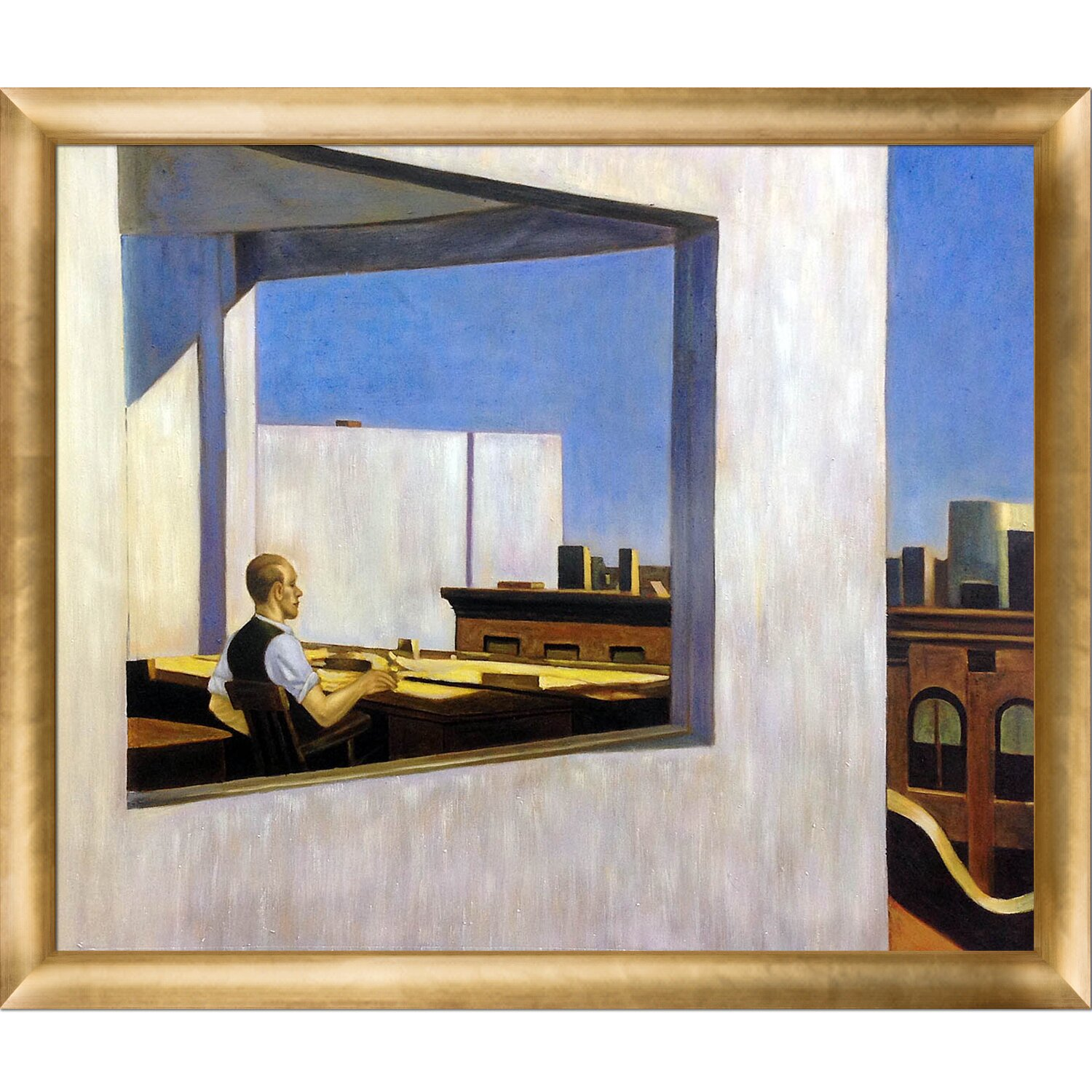 Bed Bath Credit Card Office In A Small City 1953 By Edward Hopper Framed