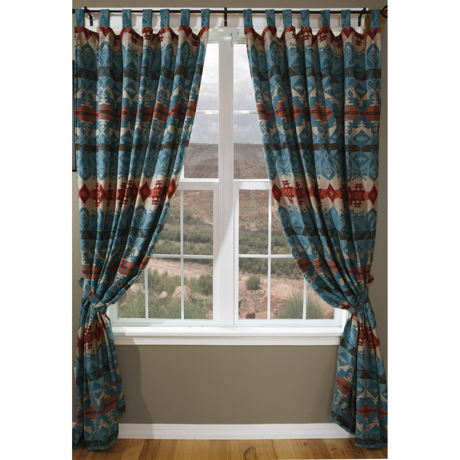Carstens Inc. Turquoise Chamarro Drape Set & Reviews