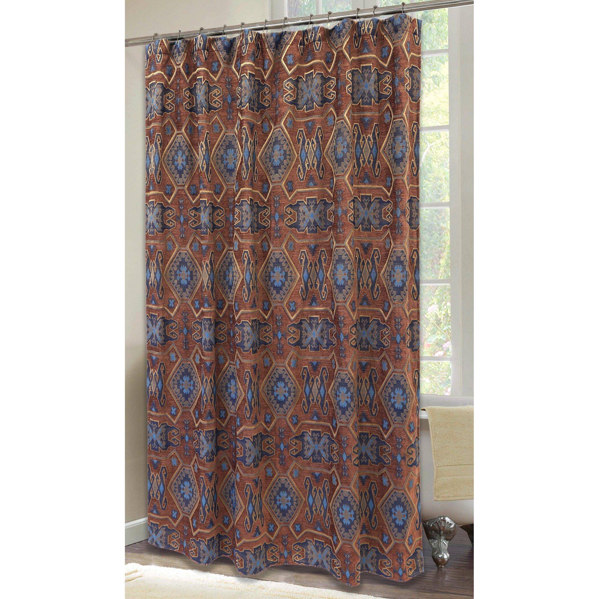 Saguaro Desert Southwestern Turquoise Shower Curtain Wayfair