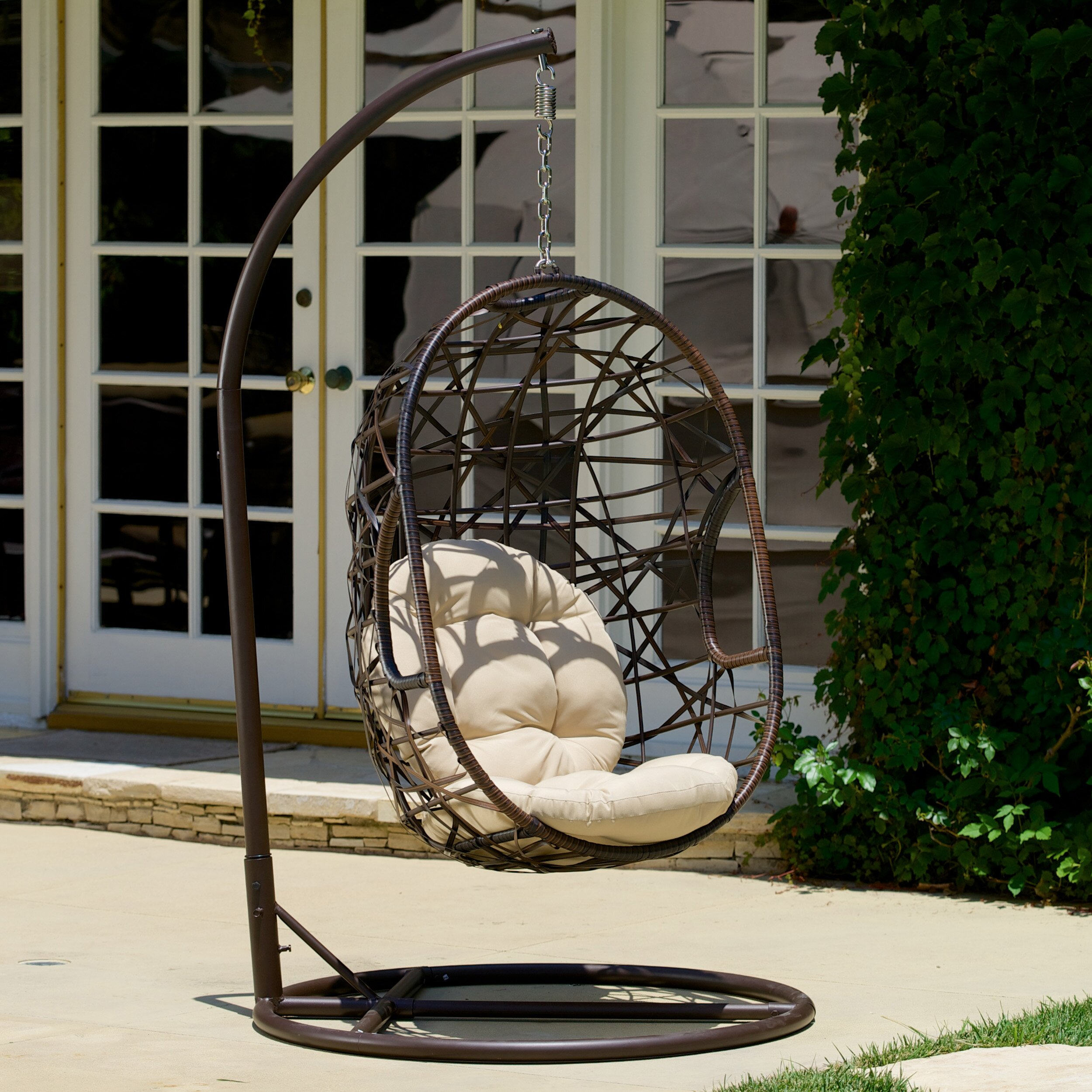 Bay Isle Home Duncombe Egg-Shaped Outdoor Swing Chair ...