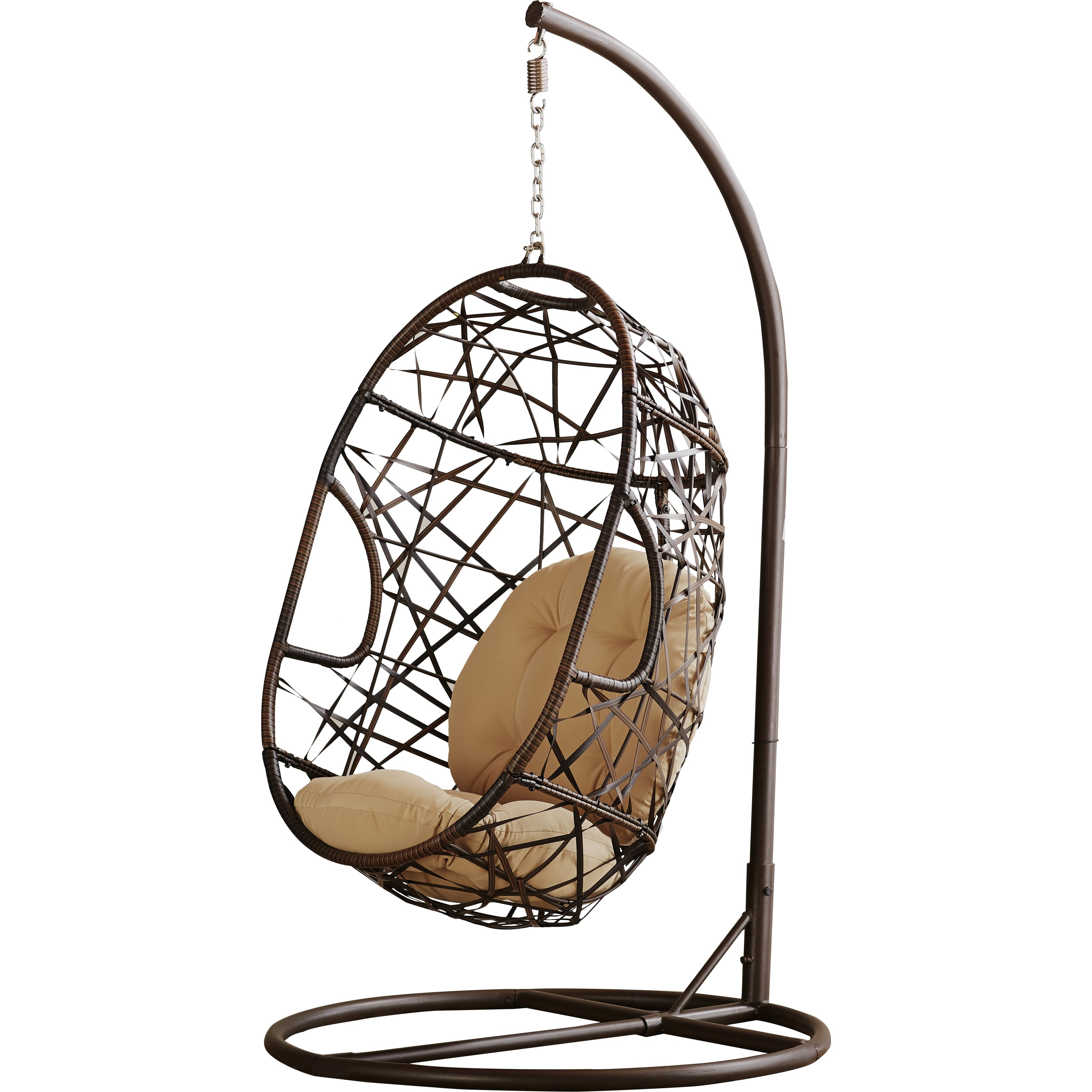 Bay Isle Home Dun be Egg Shaped Outdoor Swing Chair