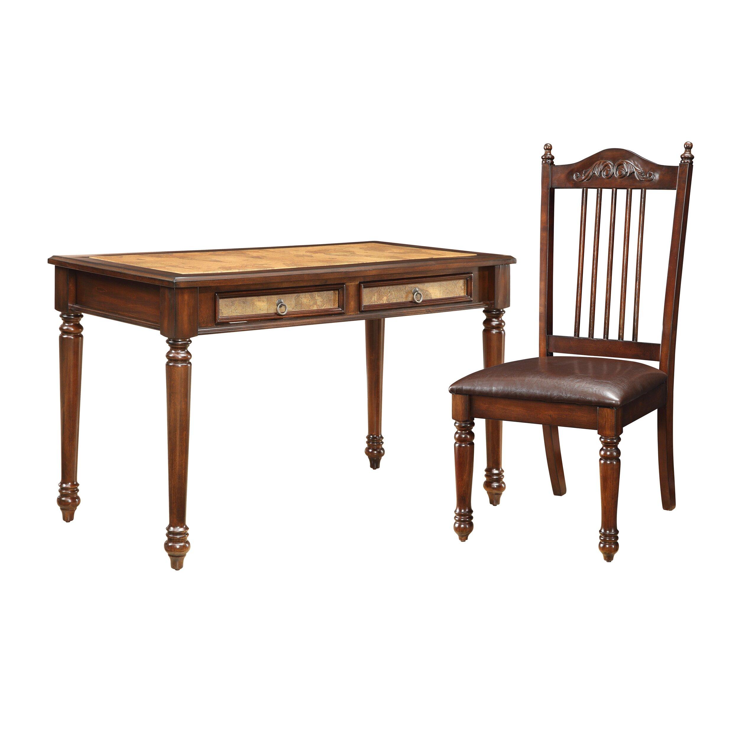 Astoria Grand Rheinfels Writing Desk With Chair Amp Reviews