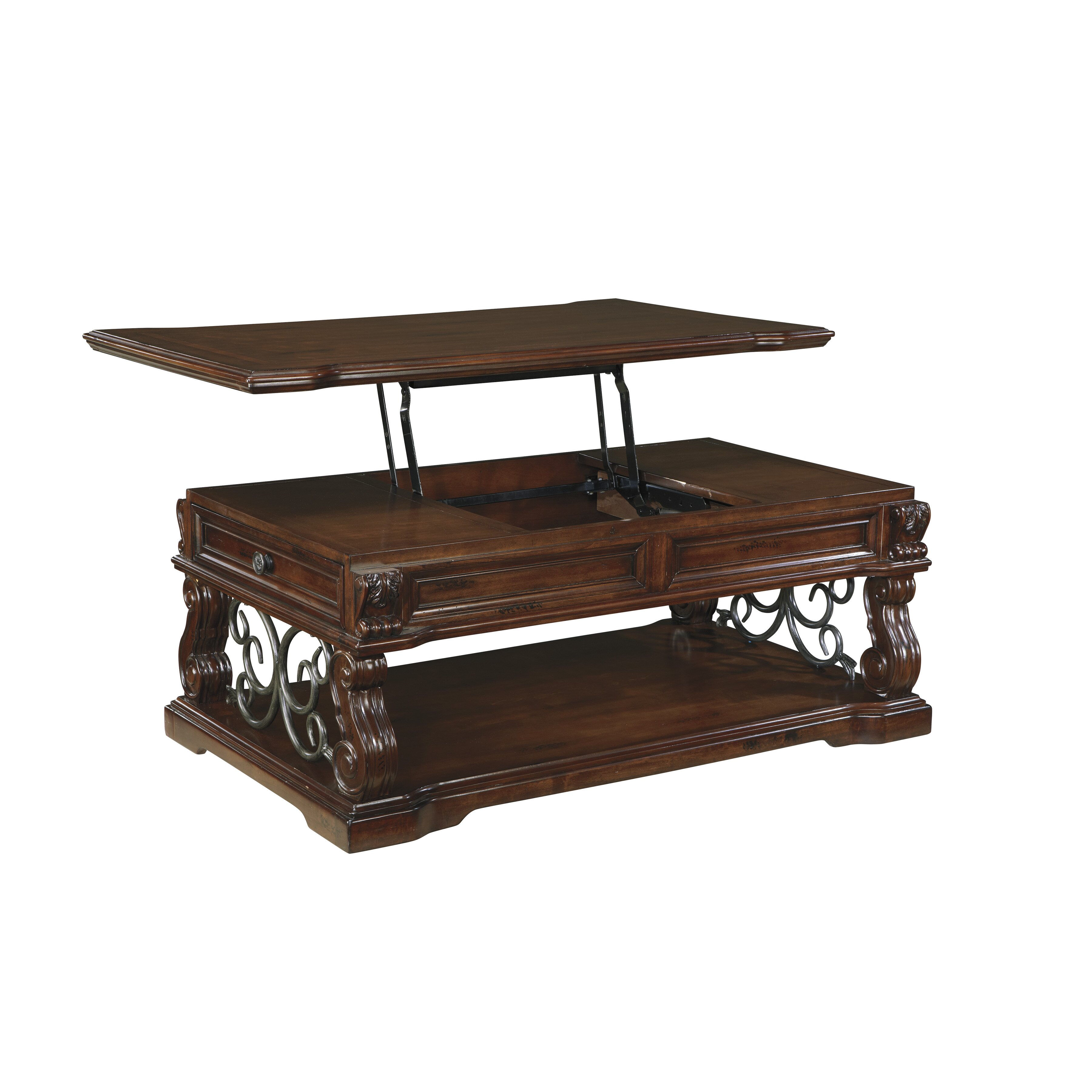 Astoria Grand Cadbury Coffee Table With Lift Top & Reviews