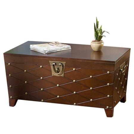Astoria Grand Cainhoe Nailhead Trunk Coffee Table & Reviews  Wayfair