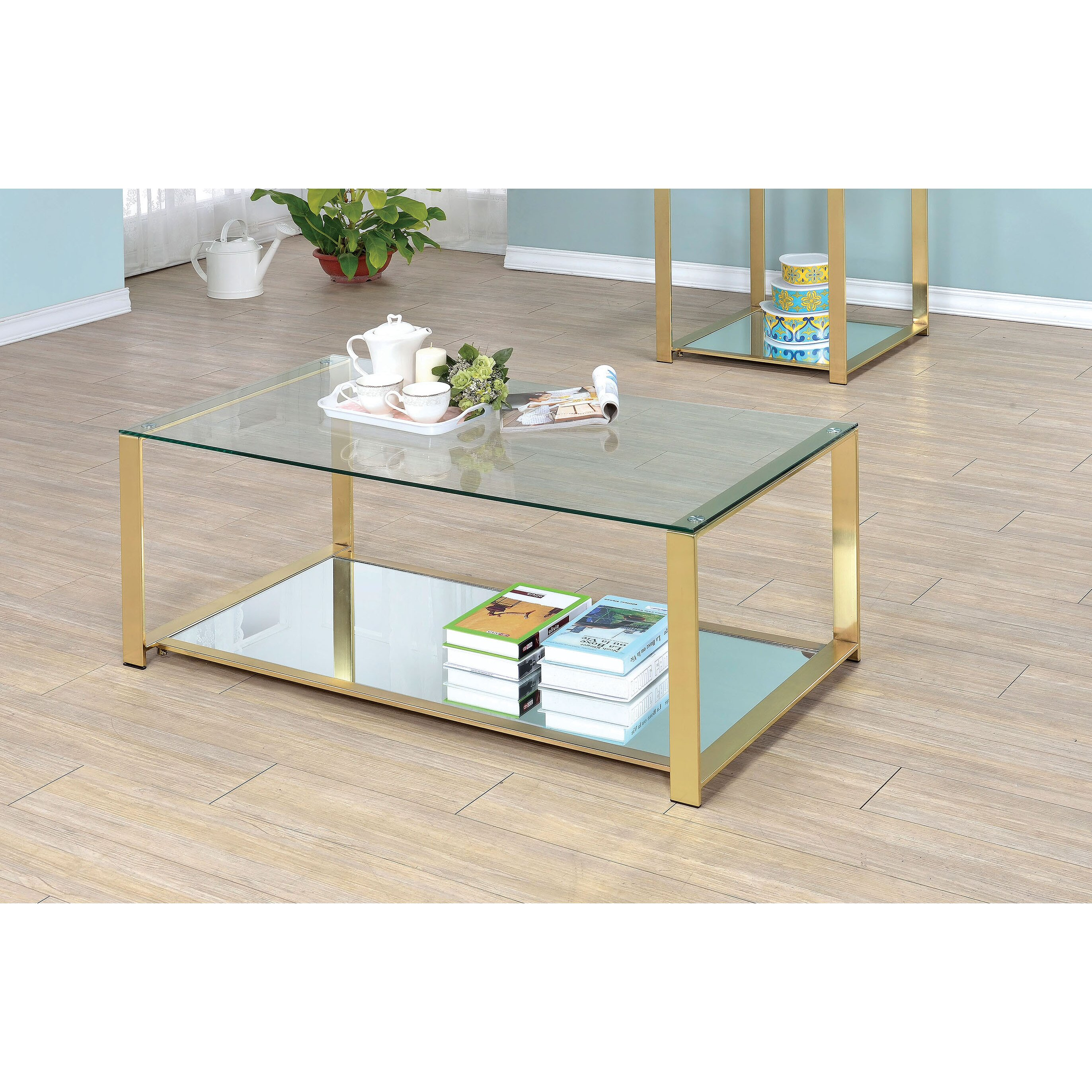 Matthau Metal Frame Coffee Table By Mercer41