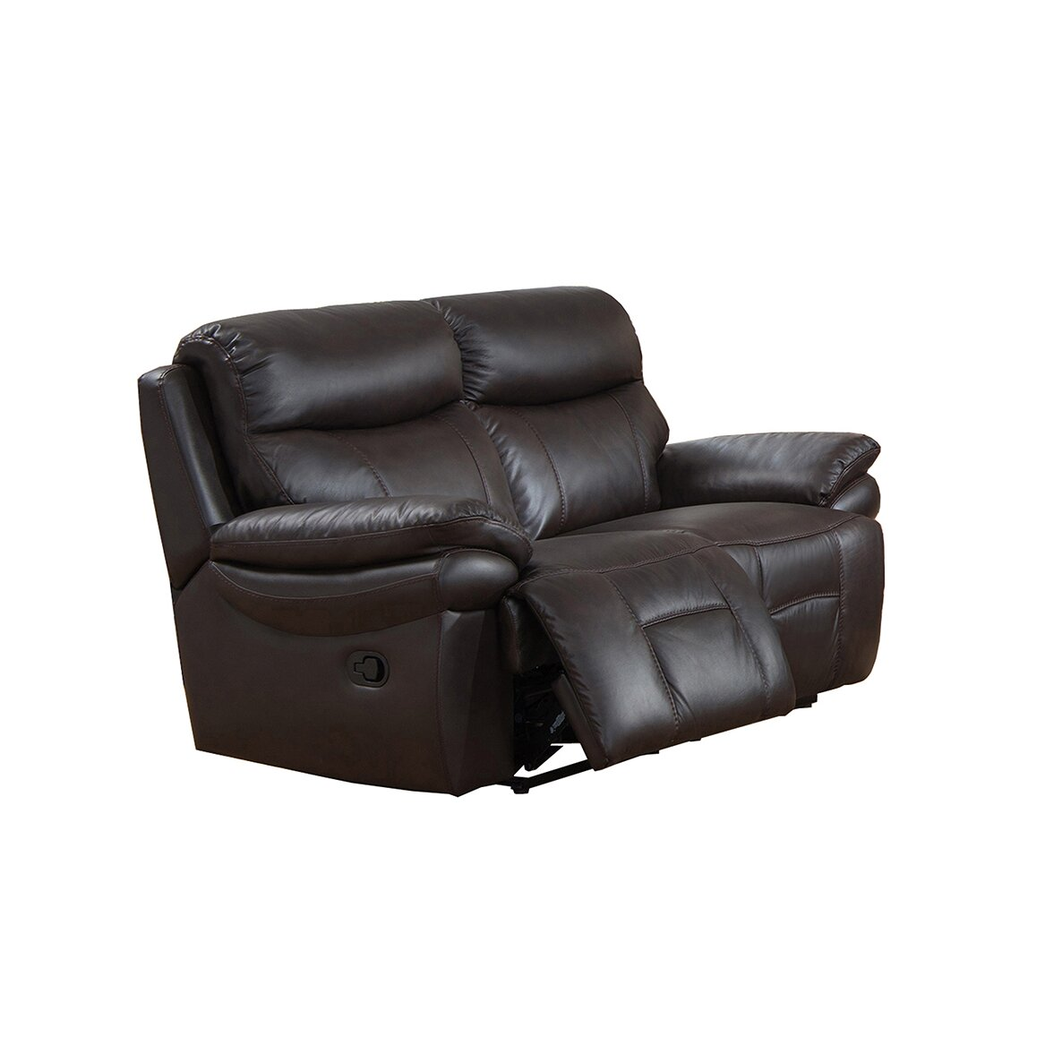 Rushmore leather recliner sofa and loveseat set wayfair for Leather sofa and loveseat set