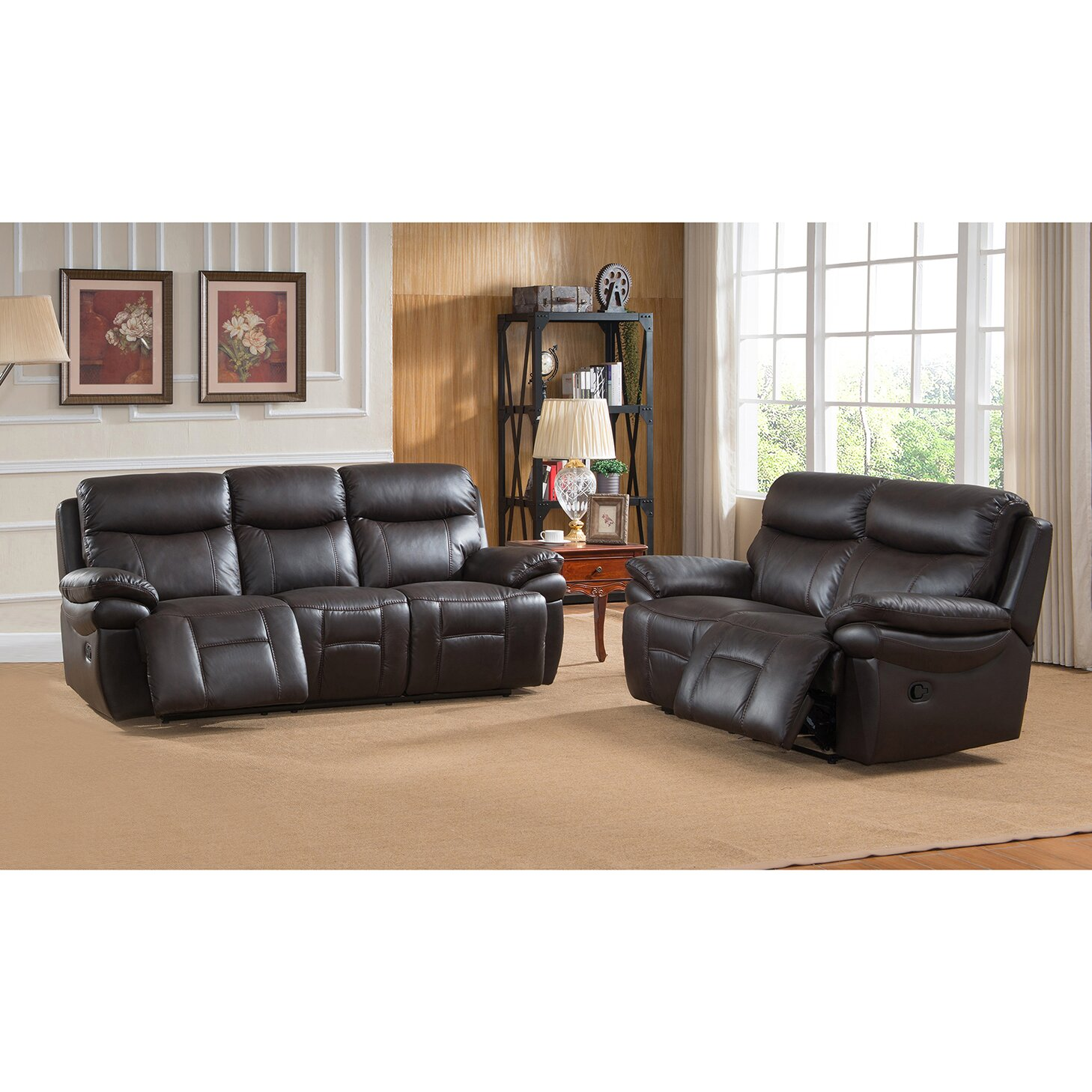 rushmore leather recliner sofa and loveseat set wayfair