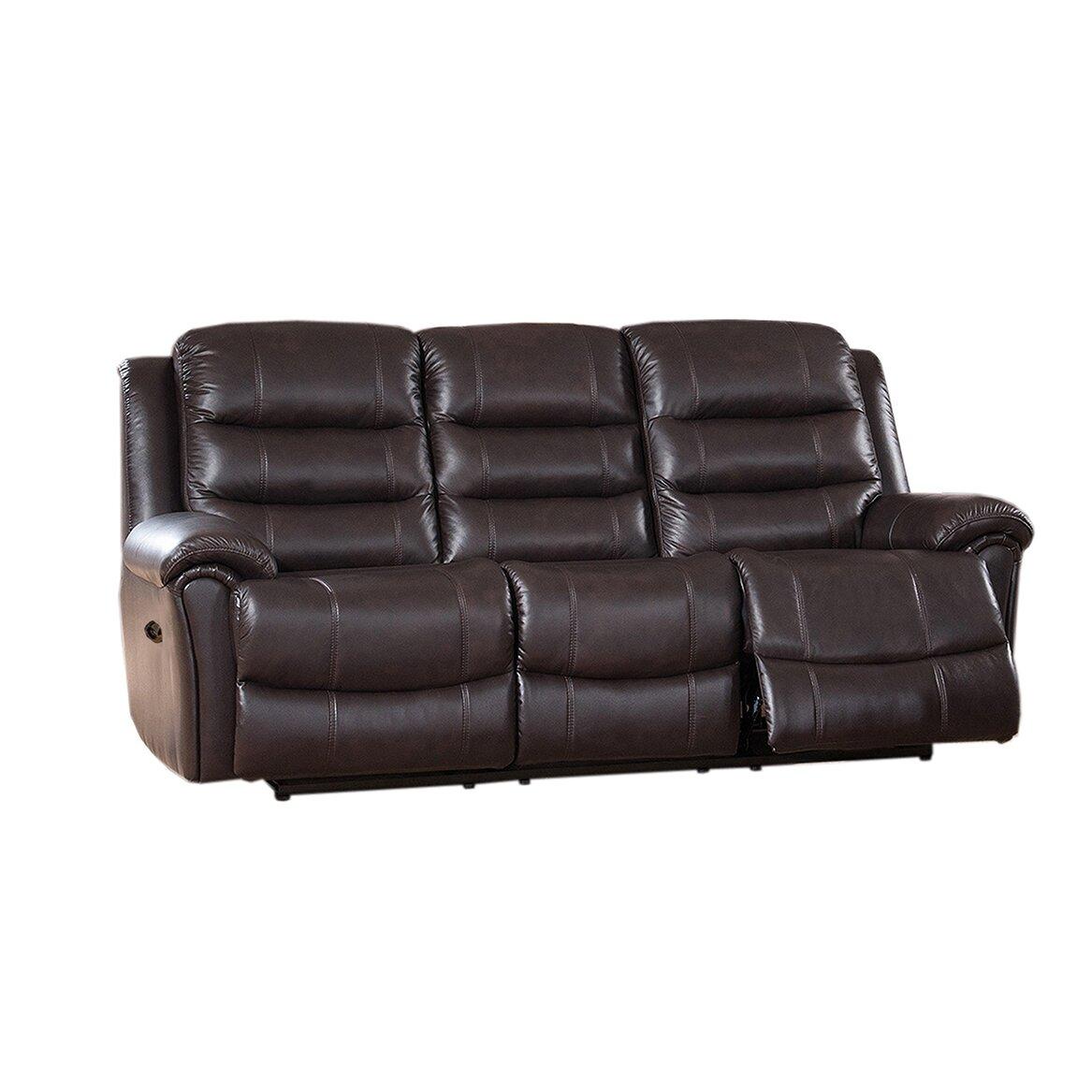 Astoria Leather Recliner Sofa And Loveseat Set Wayfair