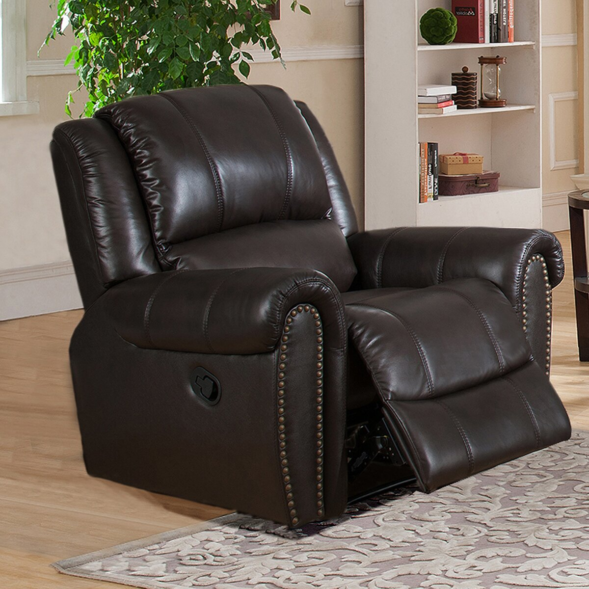 charlotte 3 piece leather recliner living room set wayfair