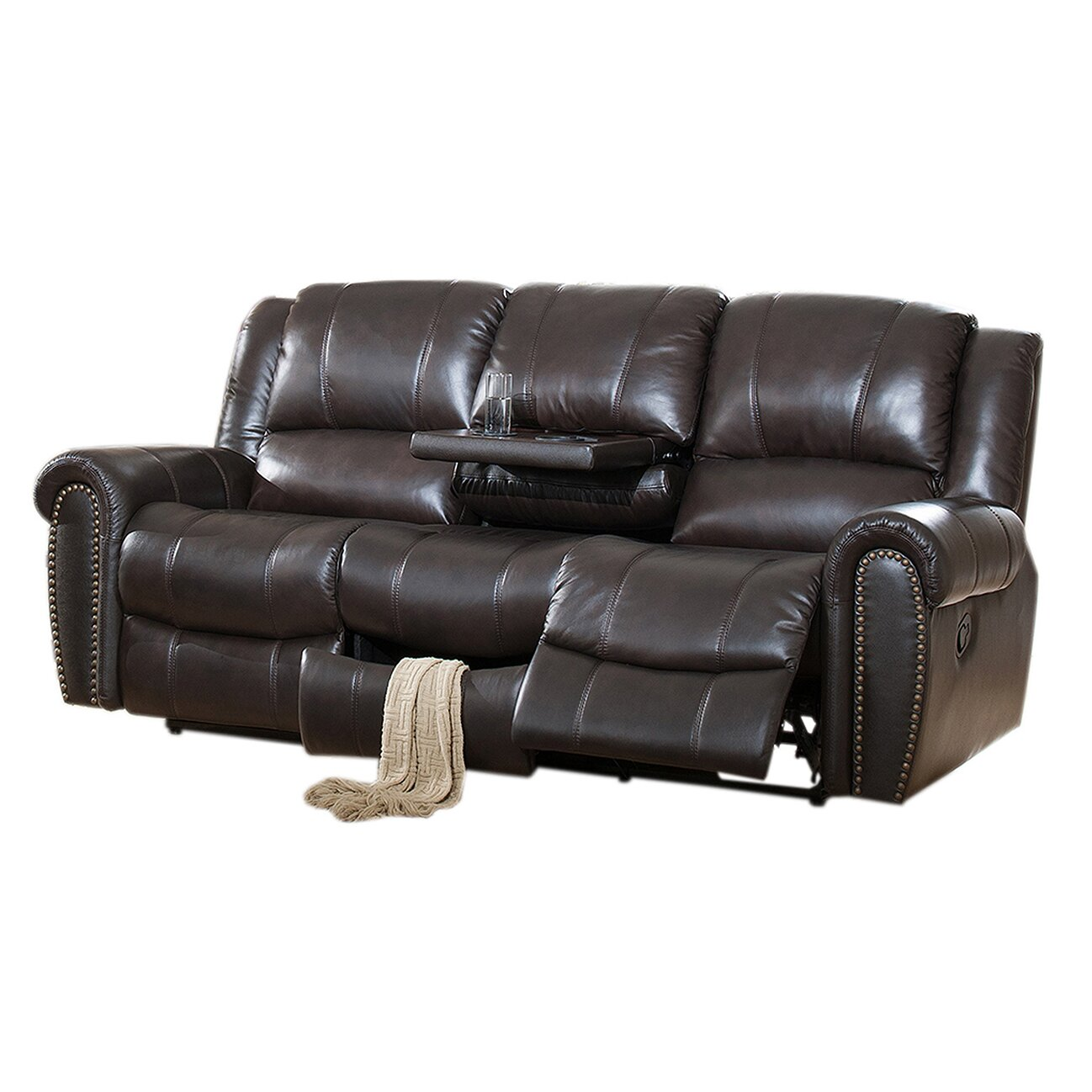Marvelous Leather Recliner Sofa Set Living Hawthorne Brown Leather Ibusinesslaw Wood Chair Design Ideas Ibusinesslaworg