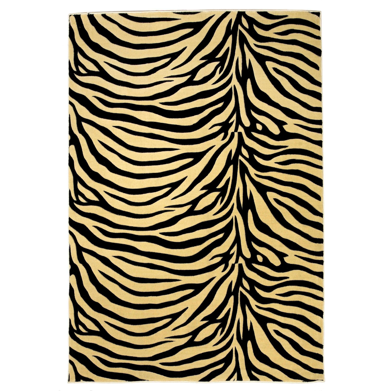 Zebra Rug Wayfair: KAS Rugs Moda Ivory/Black Zebra Rug & Reviews