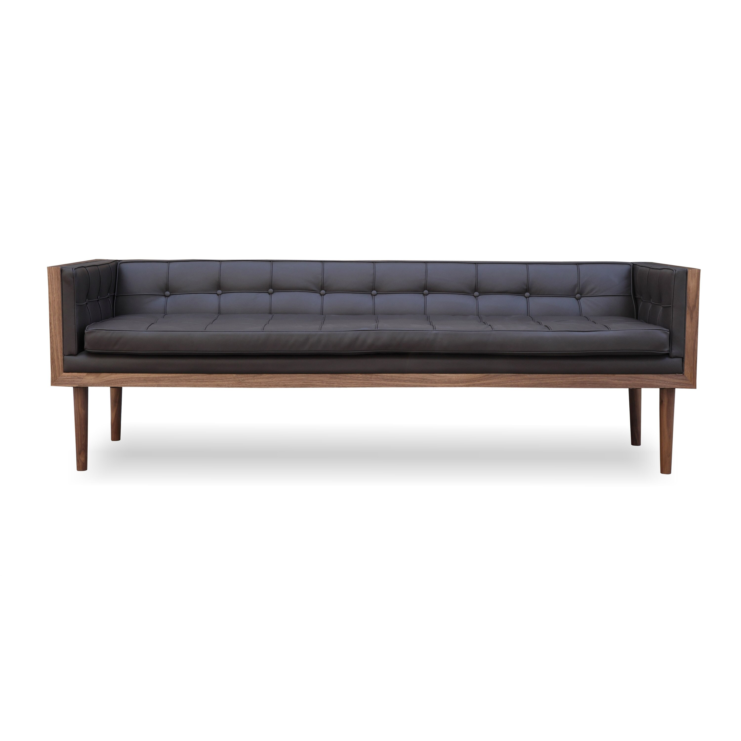 Woodrow Mid Century Modern Box Sofa Wayfair