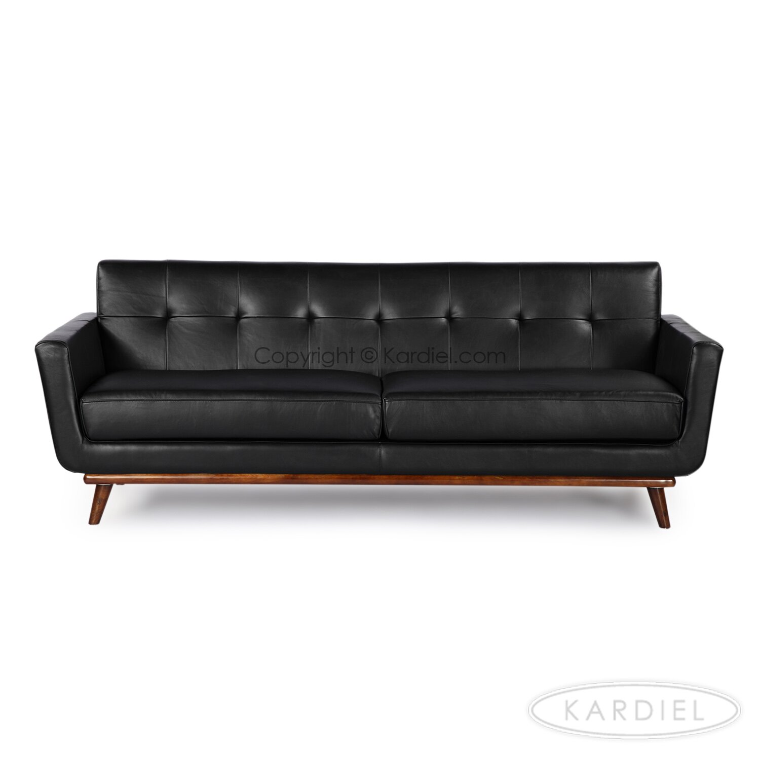 jackie mid century modern vintage leather sofa by kardiel