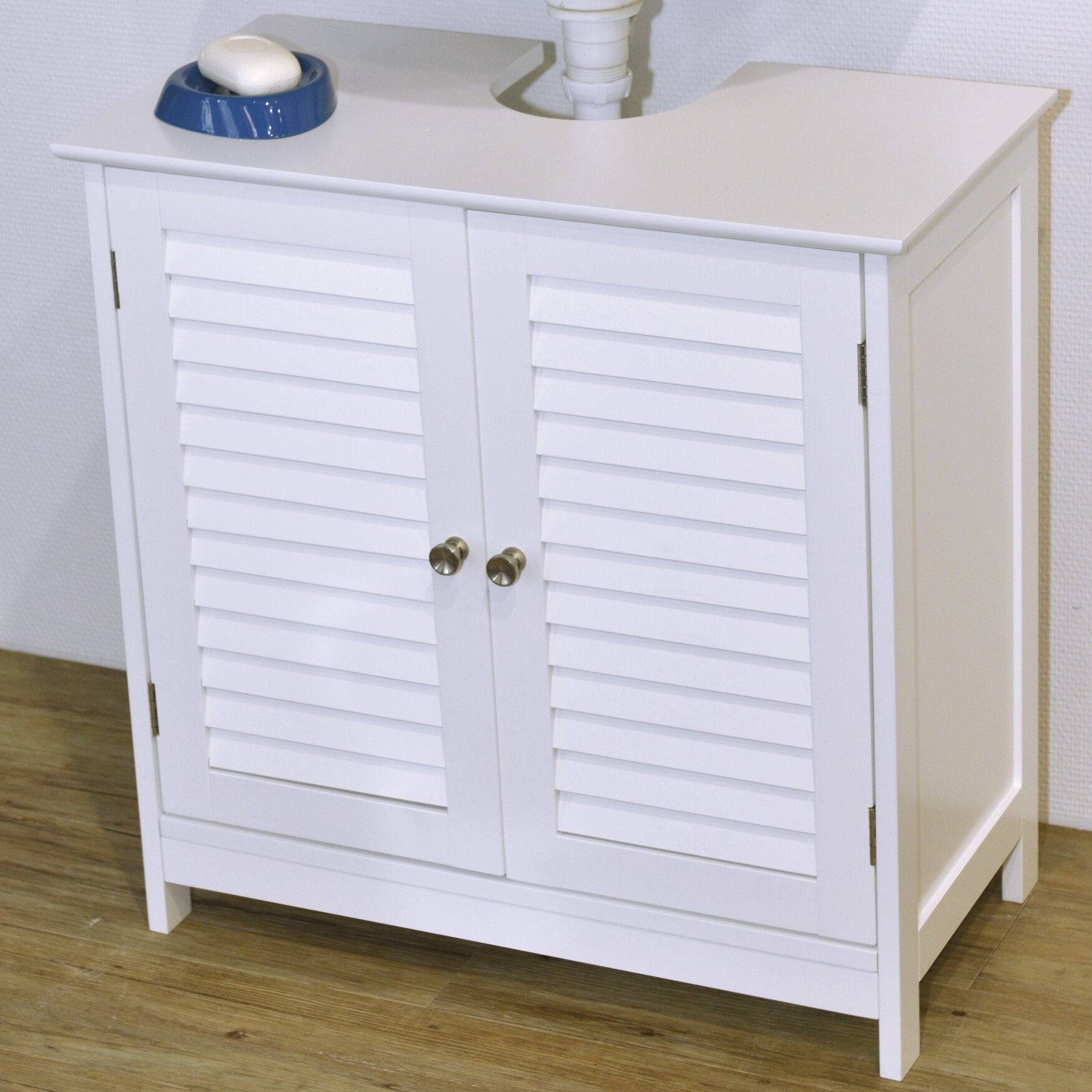 Evideco florence 23 6 x 23 6 freestanding cabinet - Under sink bathroom storage cabinet ...