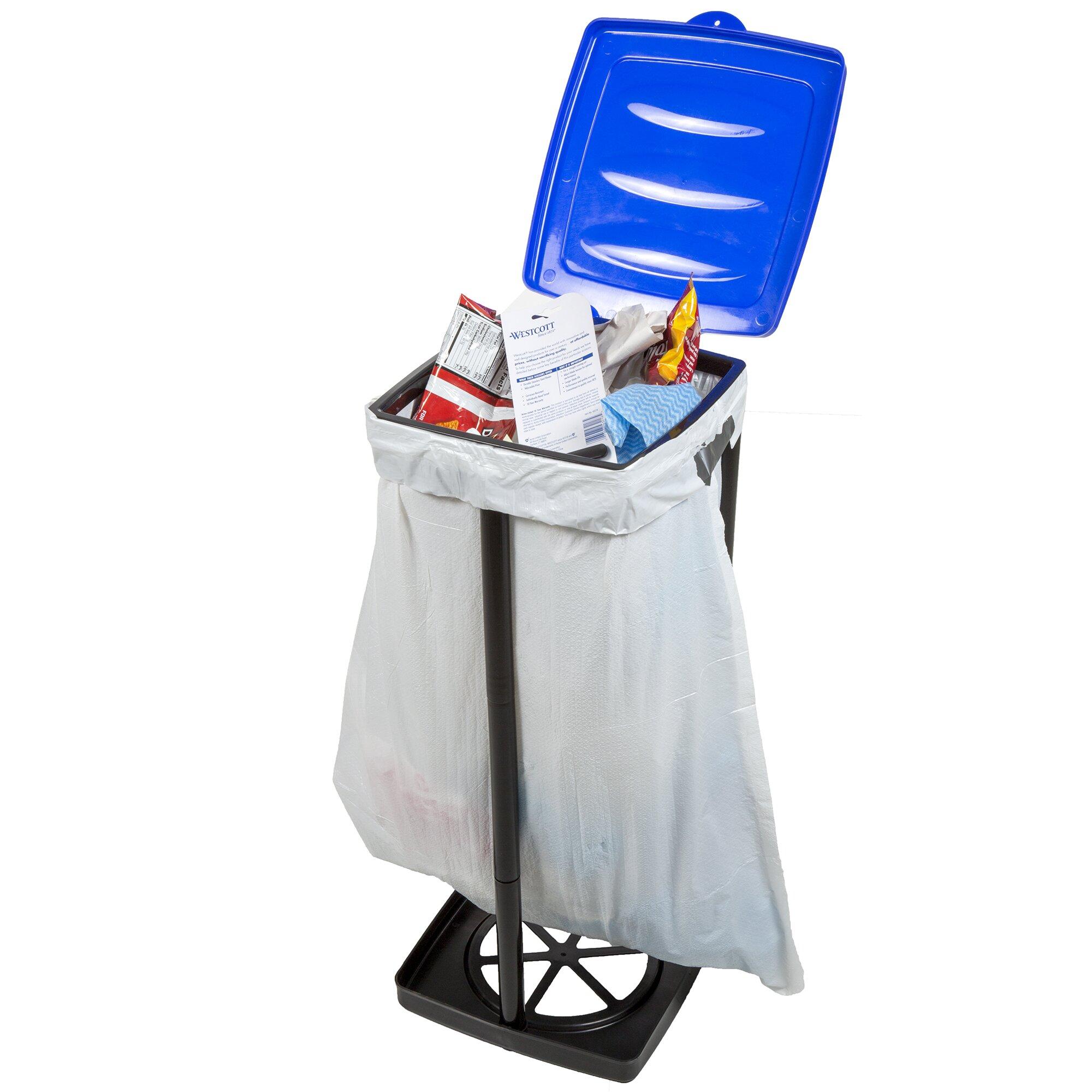 wakeman 13 gal portable trash bag holder reviews wayfair. Black Bedroom Furniture Sets. Home Design Ideas