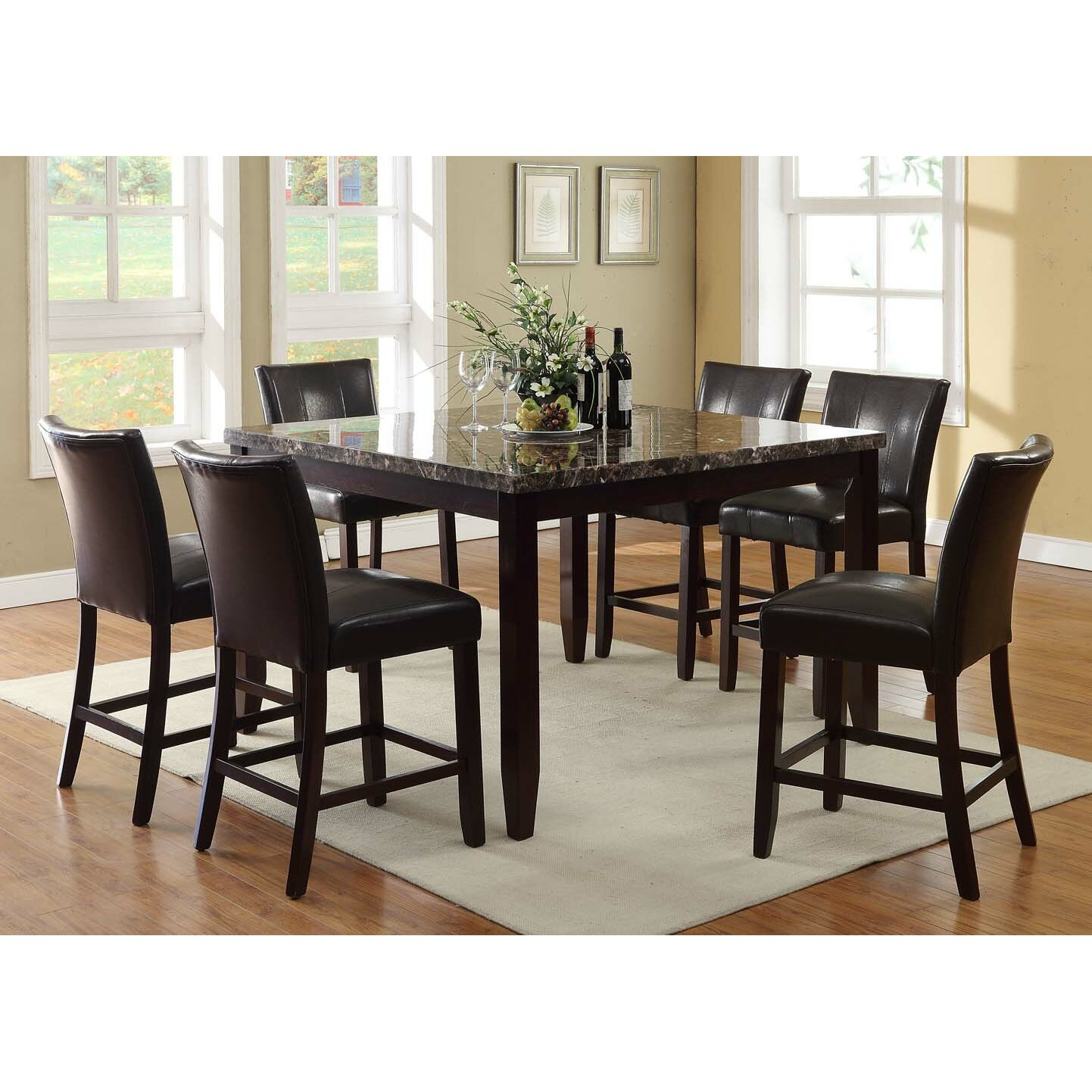 In style harvard 7 piece counter height dining set amp for 7 piece dining room set counter height