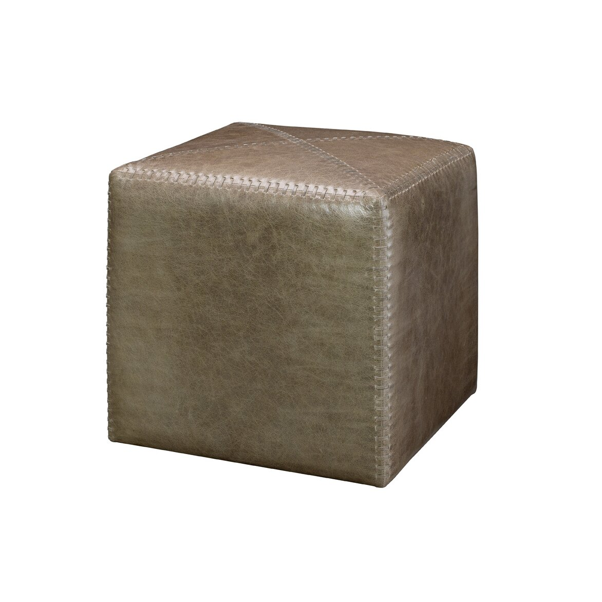 Canora Grey Gustavus Small Leather Cube Ottoman Reviews