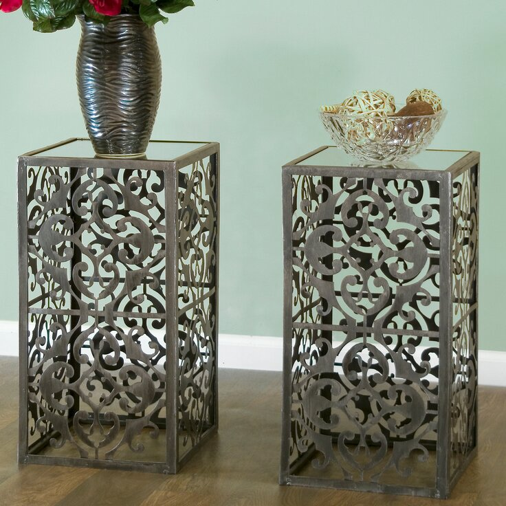 Glam Bedroom Design Photo By Wayfair: Glamour Home Decor Abrielle End Table & Reviews