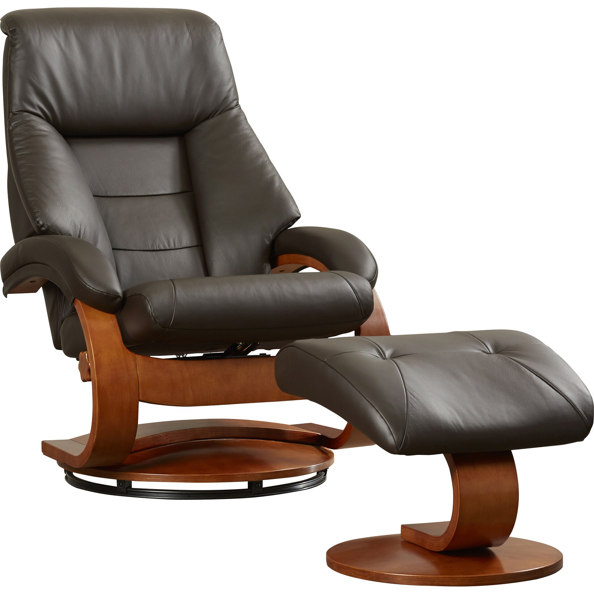 latitude run 58 leather ergonomic recliner and ottoman reviews wayfair. Black Bedroom Furniture Sets. Home Design Ideas