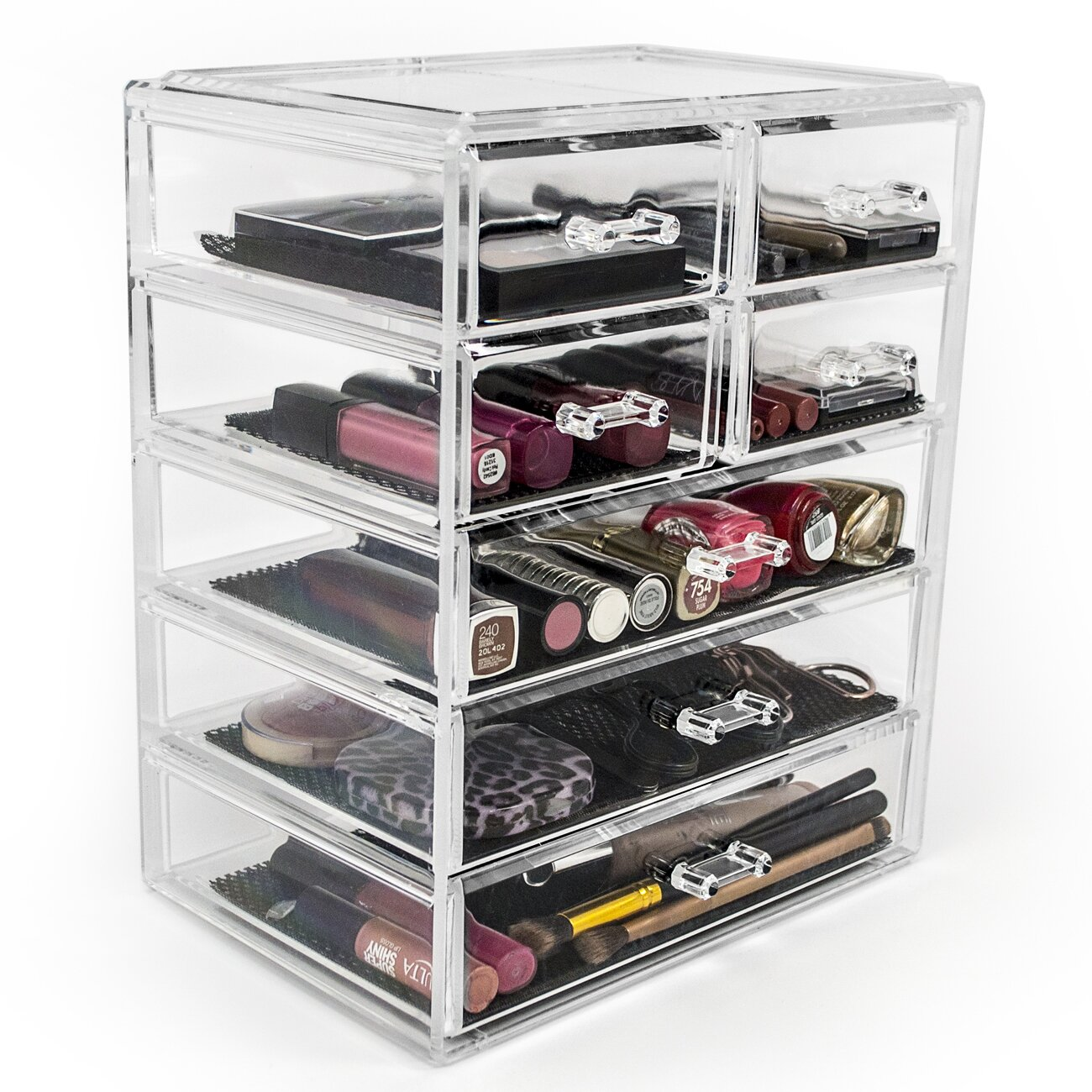 Sorbus Acrylic 4 Drawer Makeup Organizer With Removable