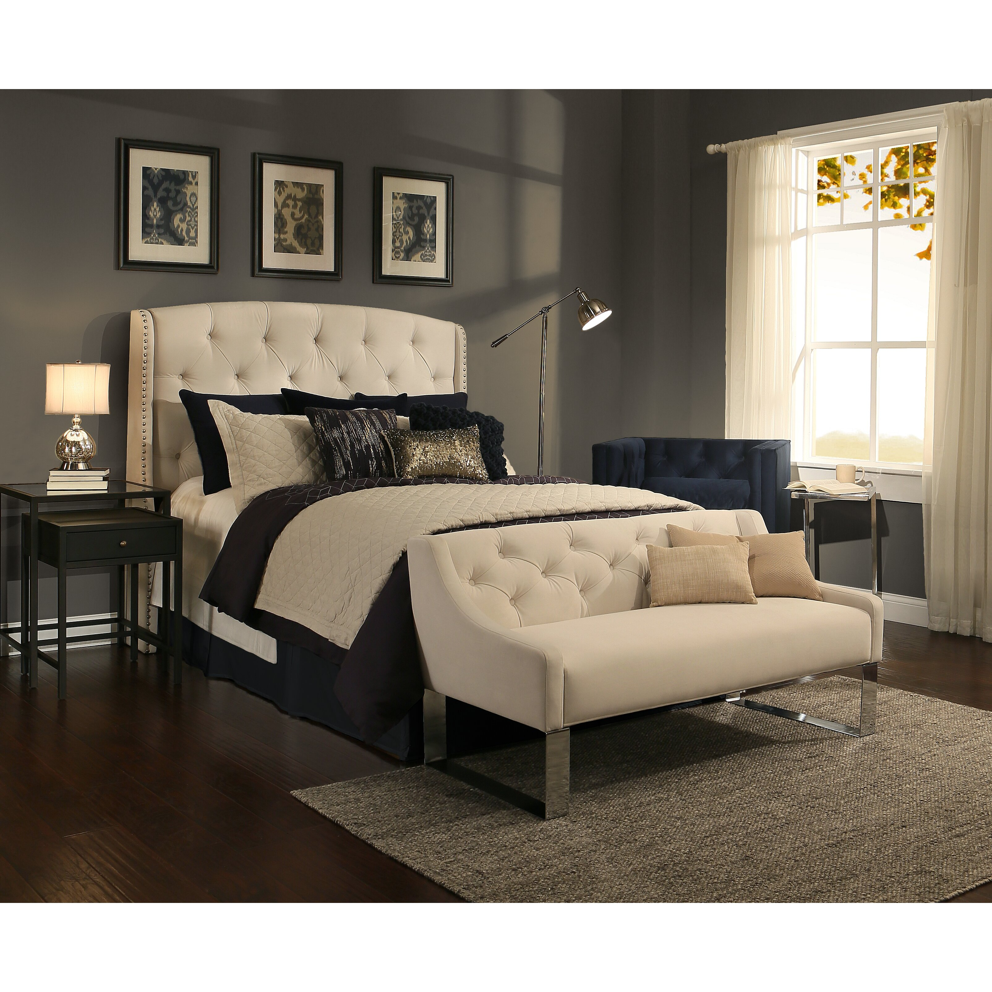 Upholstered Bedroom Bench: RepublicDesignHouse Peyton Upholstered Headboard And
