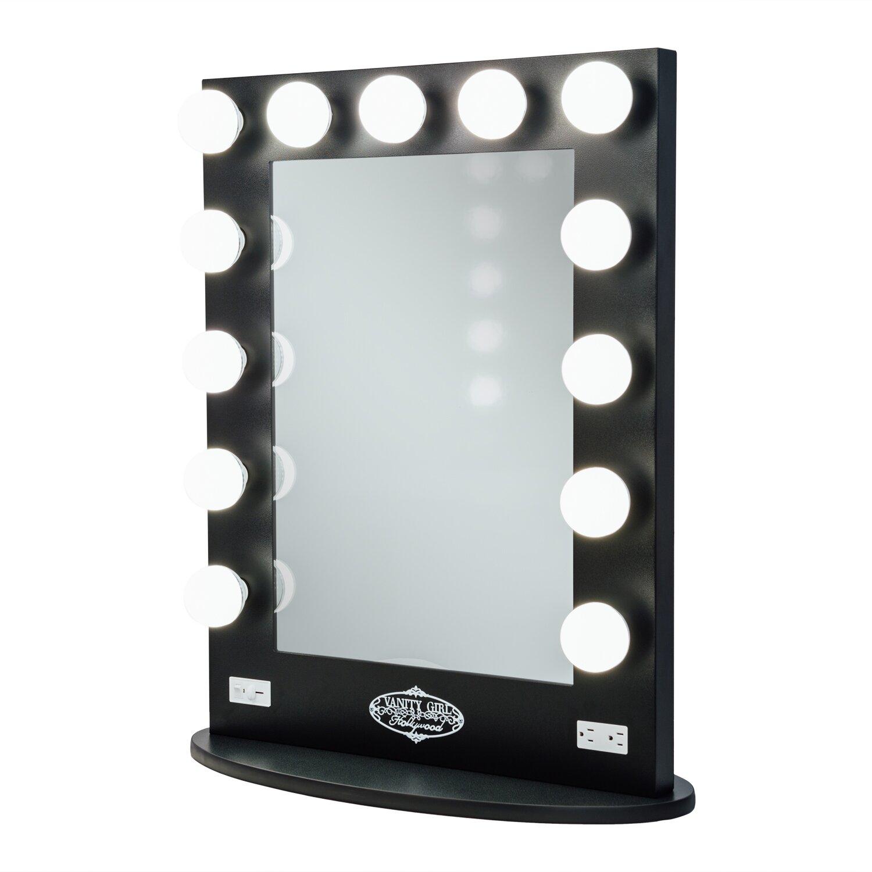 vanity girl hollywood broadway lighted vanity mirror reviews. Black Bedroom Furniture Sets. Home Design Ideas