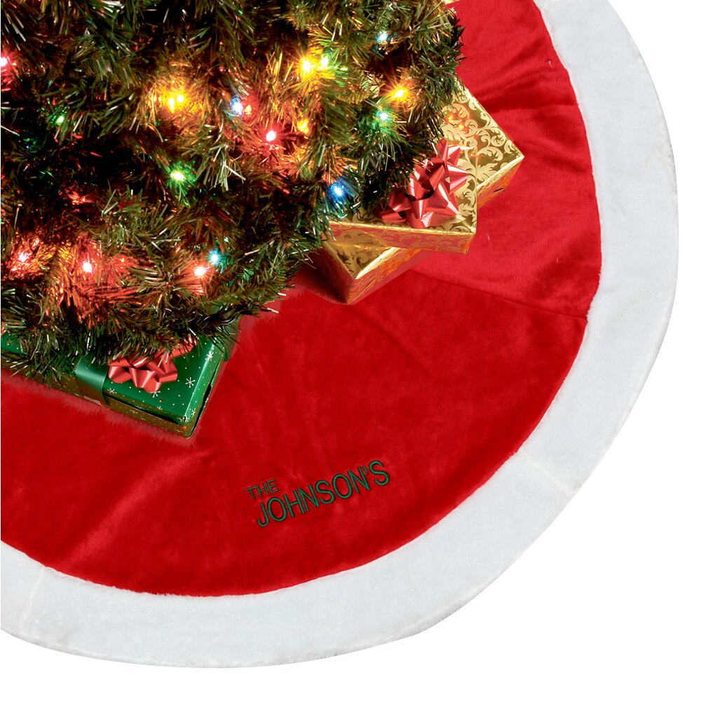 Personalized Big Christmas Tree Skirt