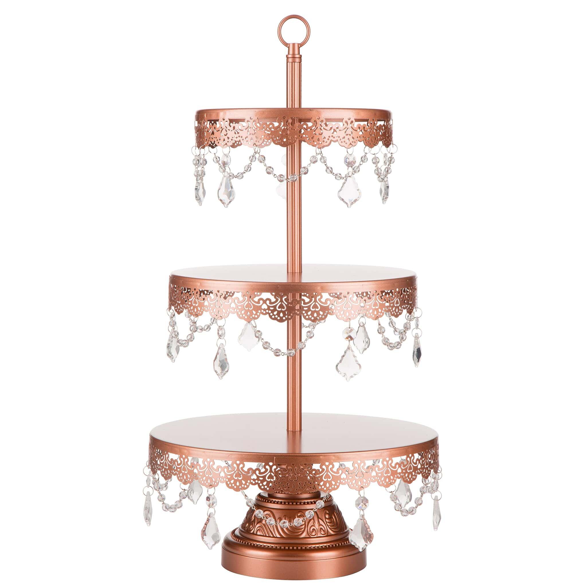 sophia 3 tier metal cupcake stand wayfair. Black Bedroom Furniture Sets. Home Design Ideas