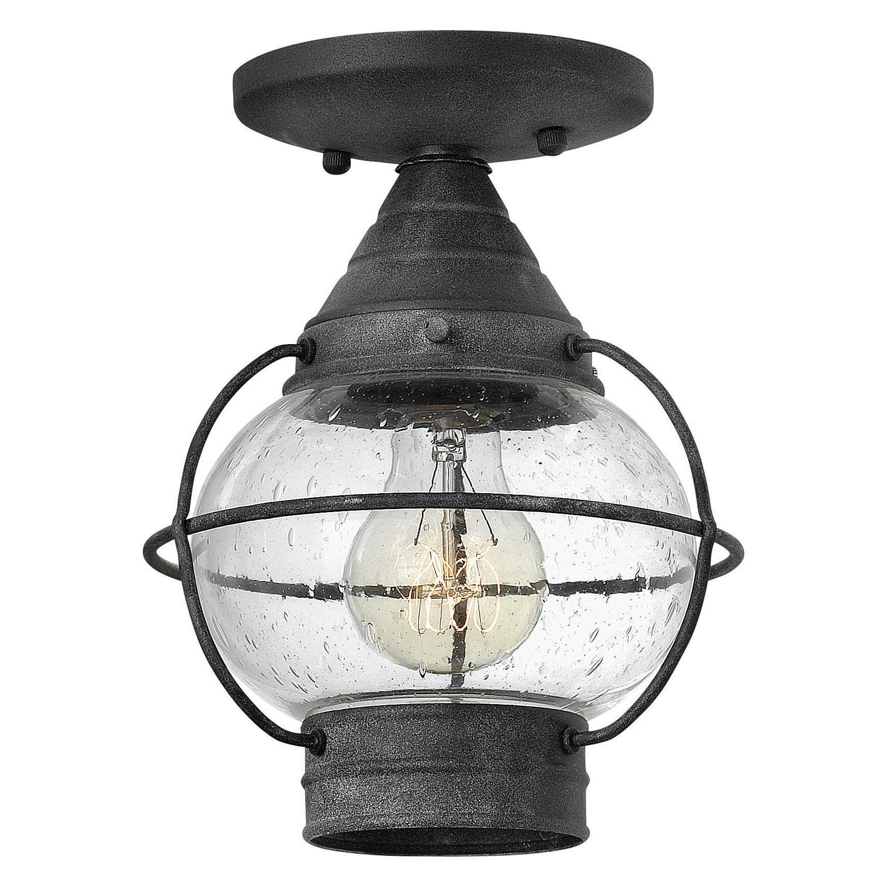 Hinkley Lighting Cape Cod 1 Light Outdoor Semi Flush Mount