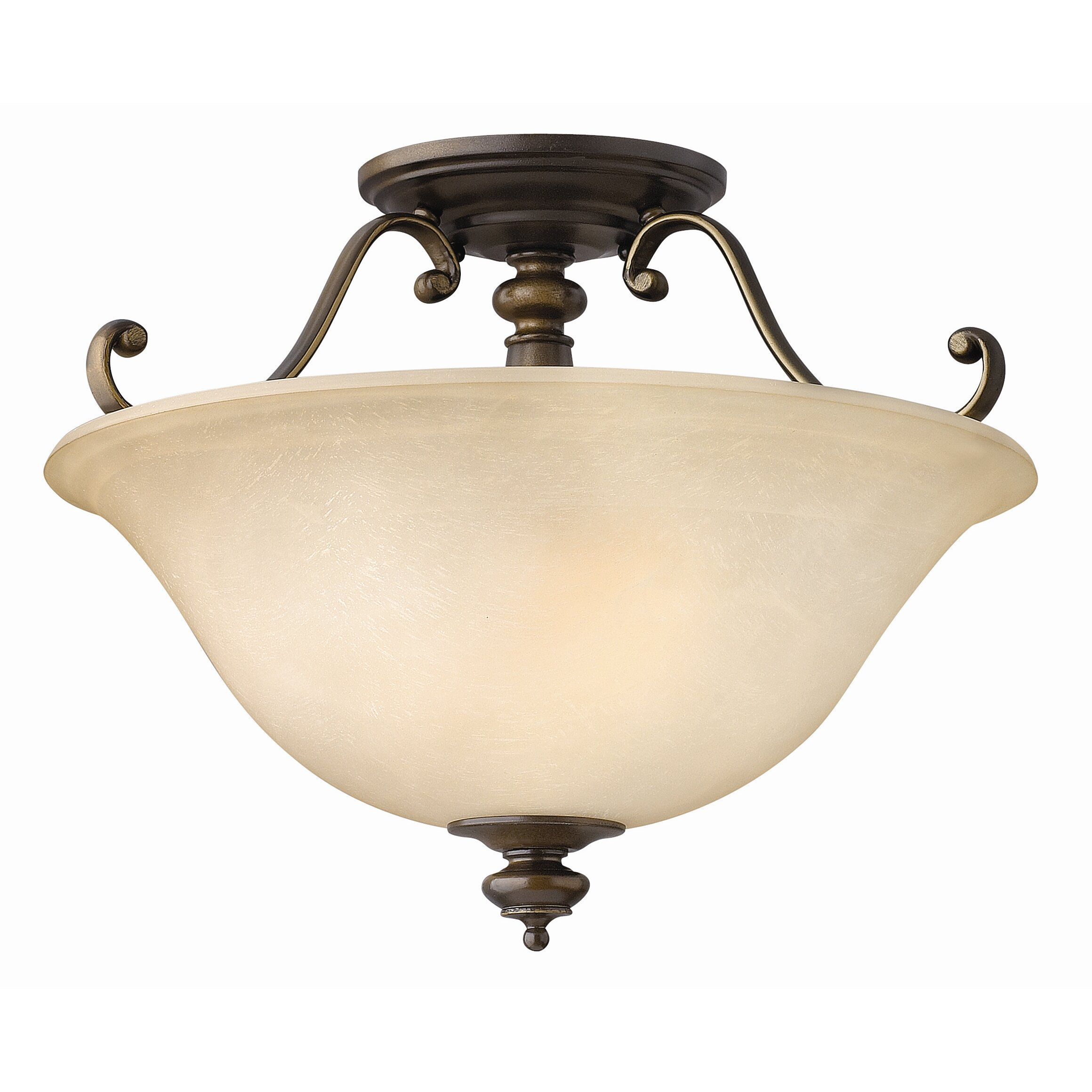 Foyer Semi Flush Mount Lighting : Dunhill light semi flush mount foyer wayfair