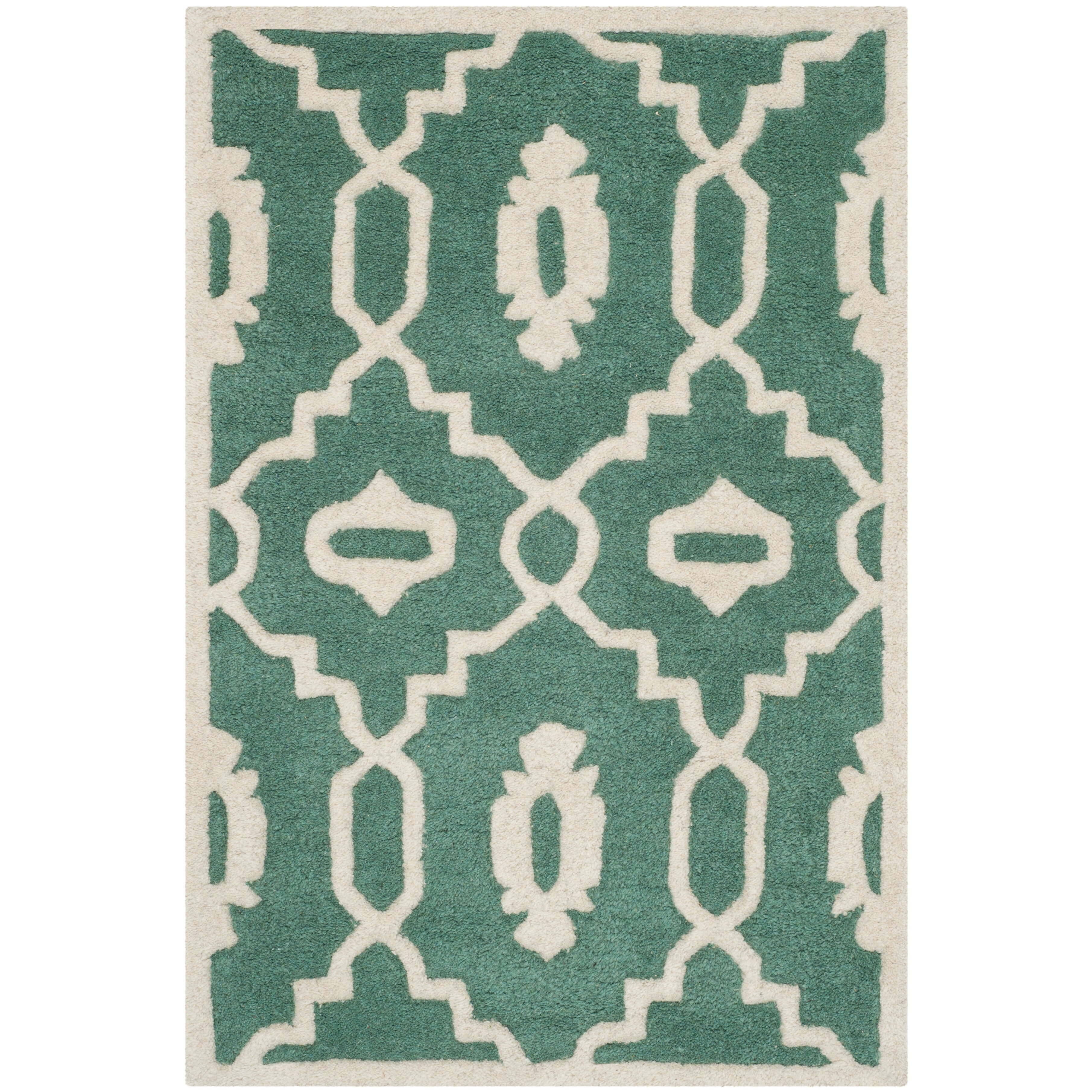 Safavieh Chatham Teal / Ivory Moroccan Rug & Reviews