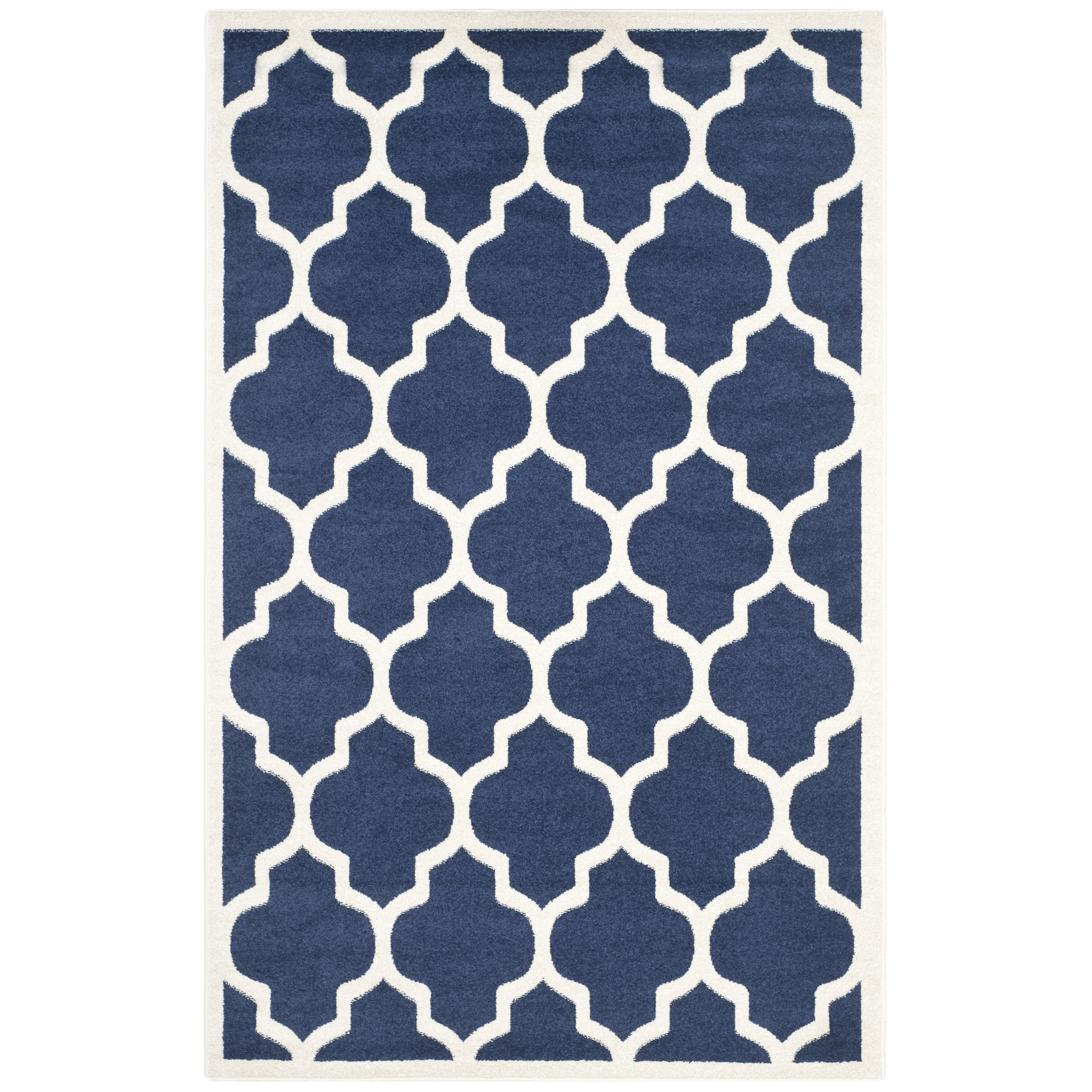 Safavieh Amherst Navy Beige Indoor Outdoor Area Rug