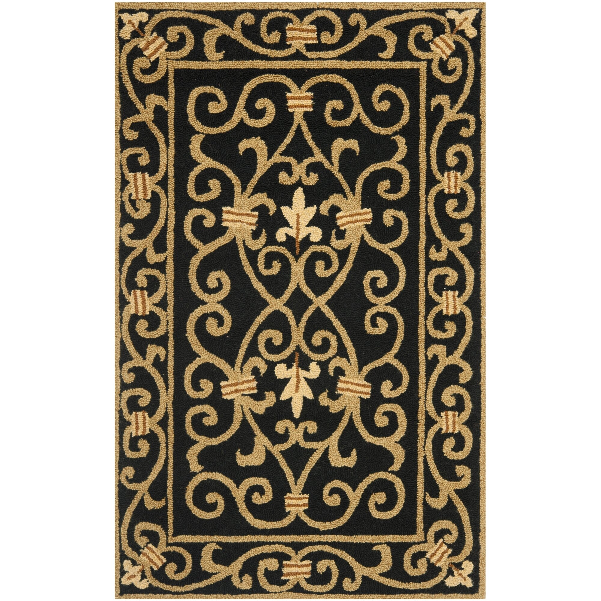 Safavieh chelsea black iron gate area rug reviews