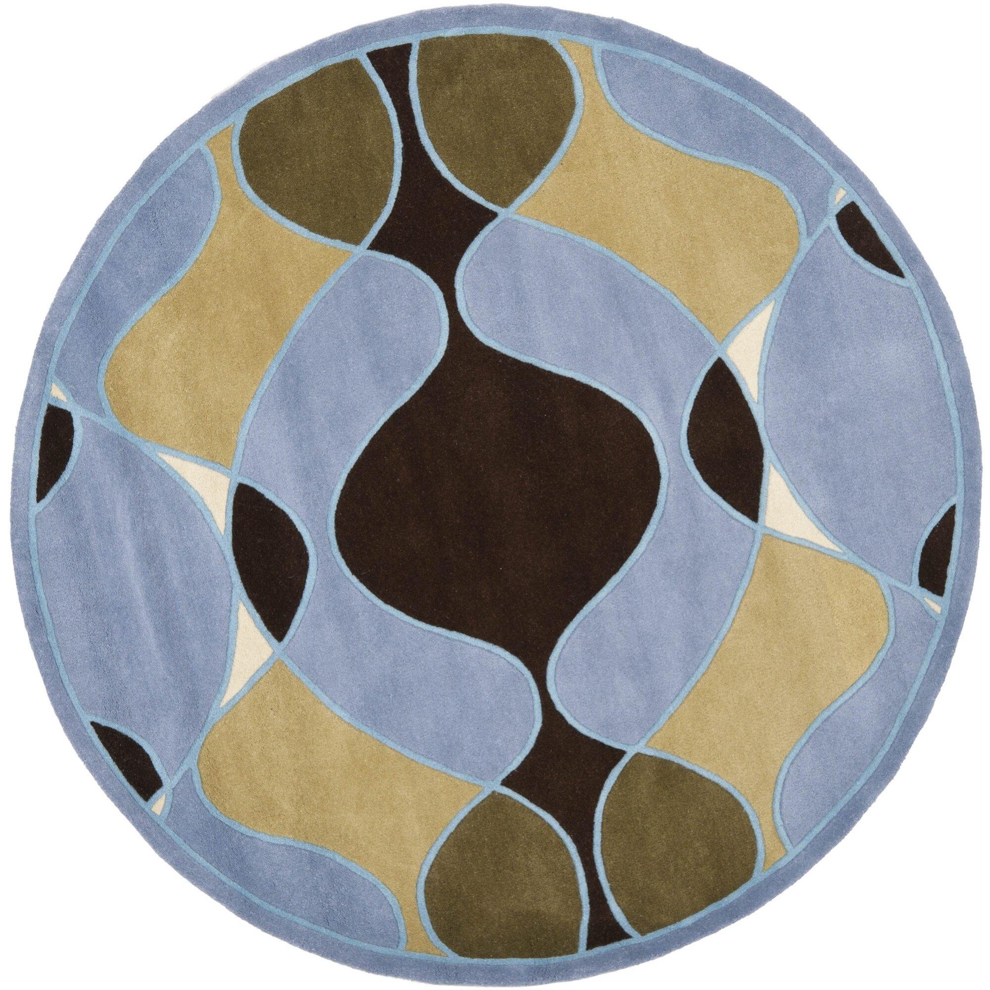 Safavieh Soho Blue Swirl Area Rug on