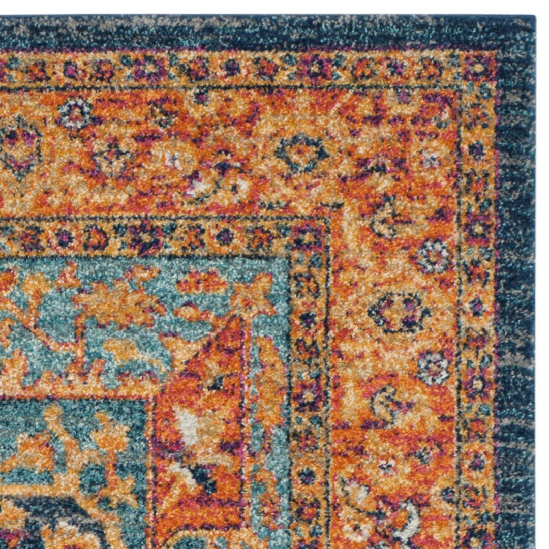 Safavieh Evoke Blue/Orange Area Rug & Reviews | Wayfair