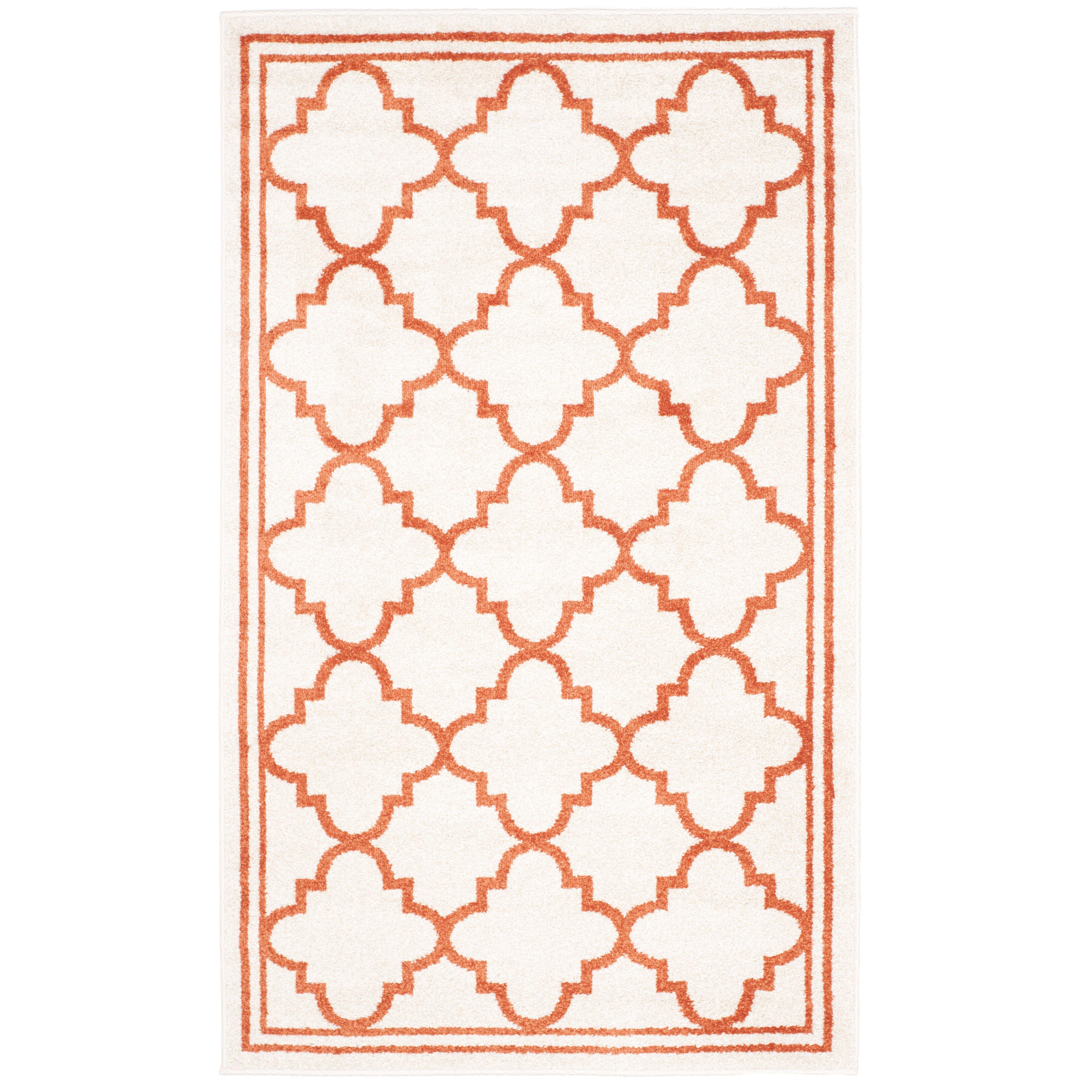Safavieh Amherst Beige Orange Indoor Outdoor Area Rug