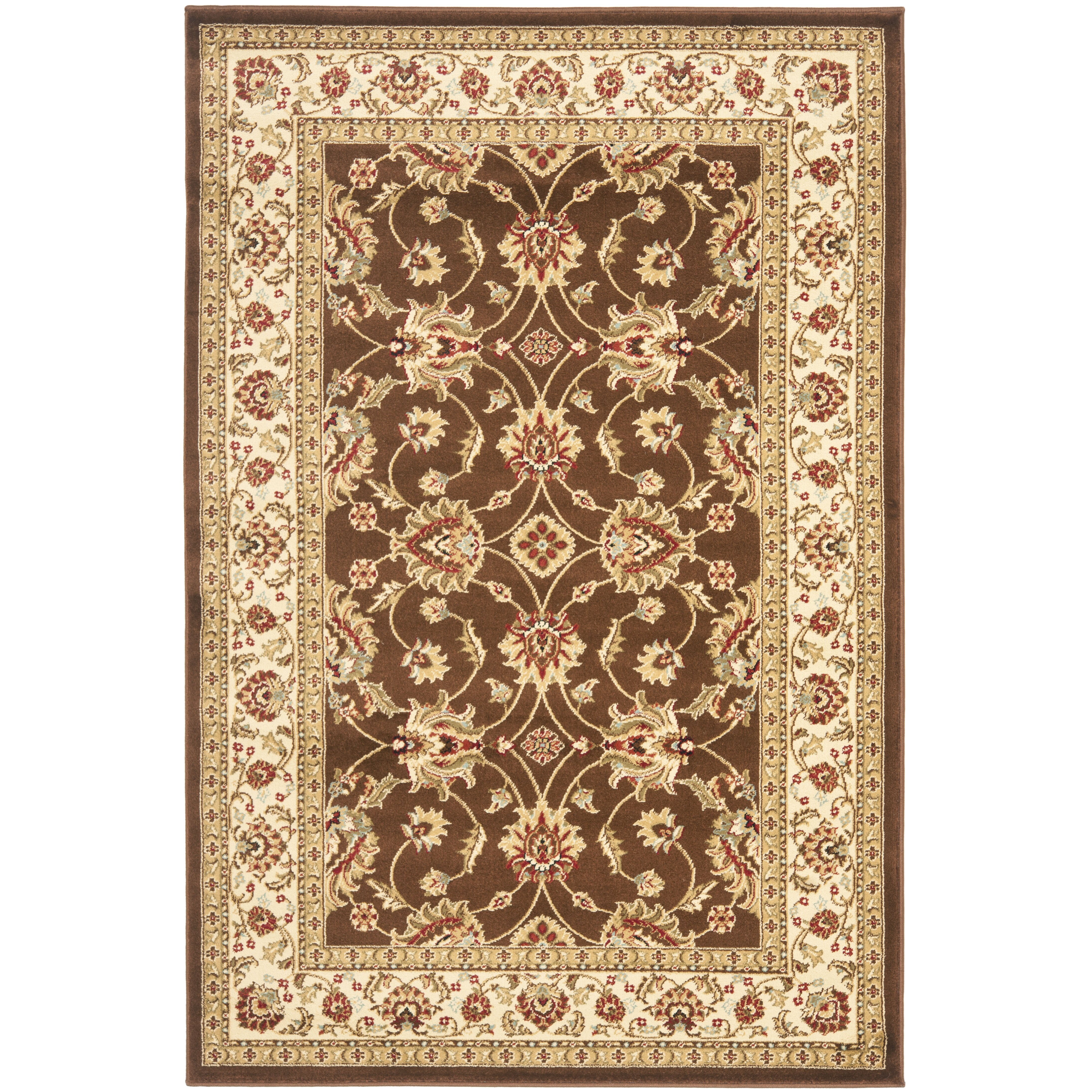 Area Rug Persian 9x12 Oriental Carpet Ivory Wool: Safavieh Lyndhurst Brown/Ivory Persian Area Rug & Reviews