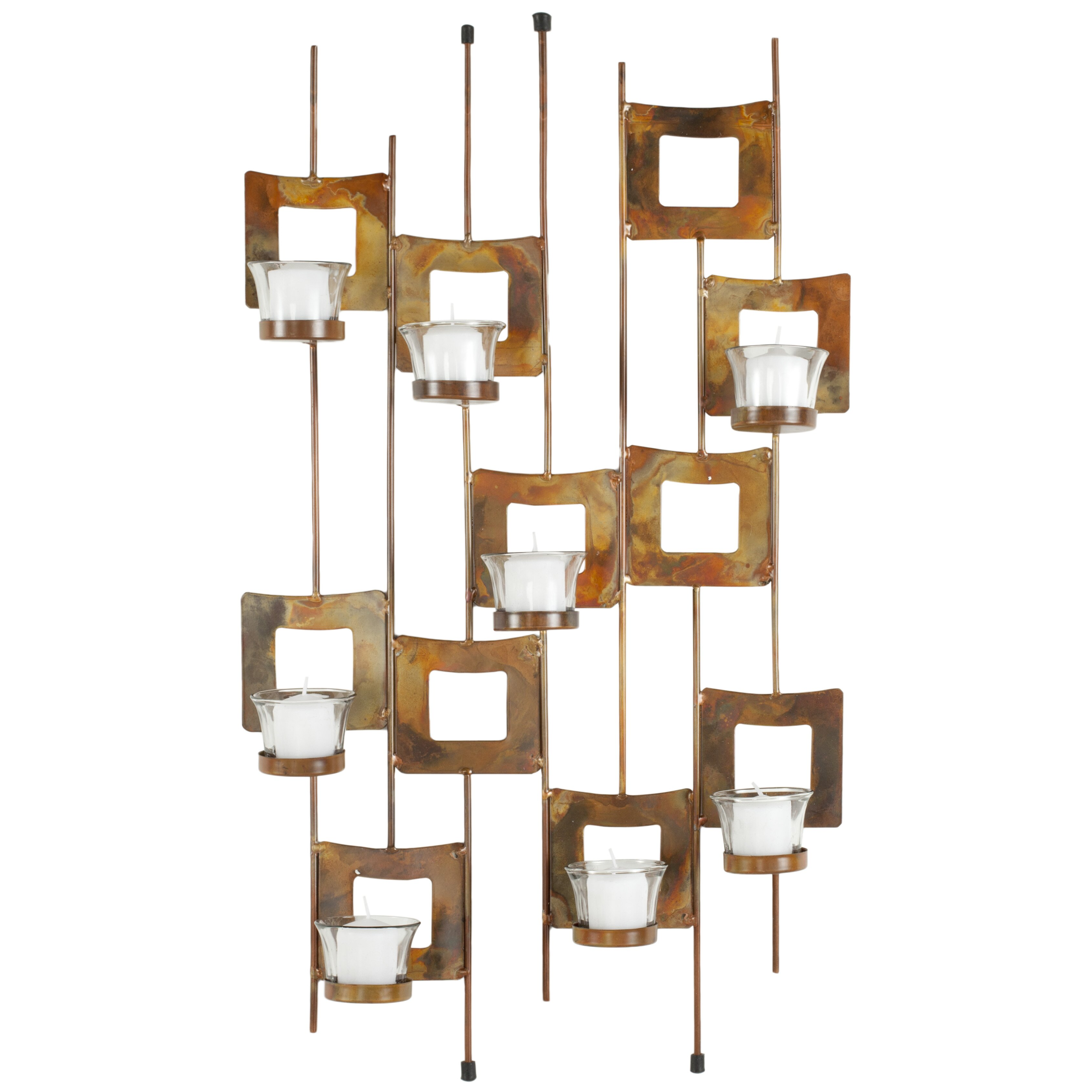 Safavieh votive wall decor reviews wayfair - Candle holders wall decor ...