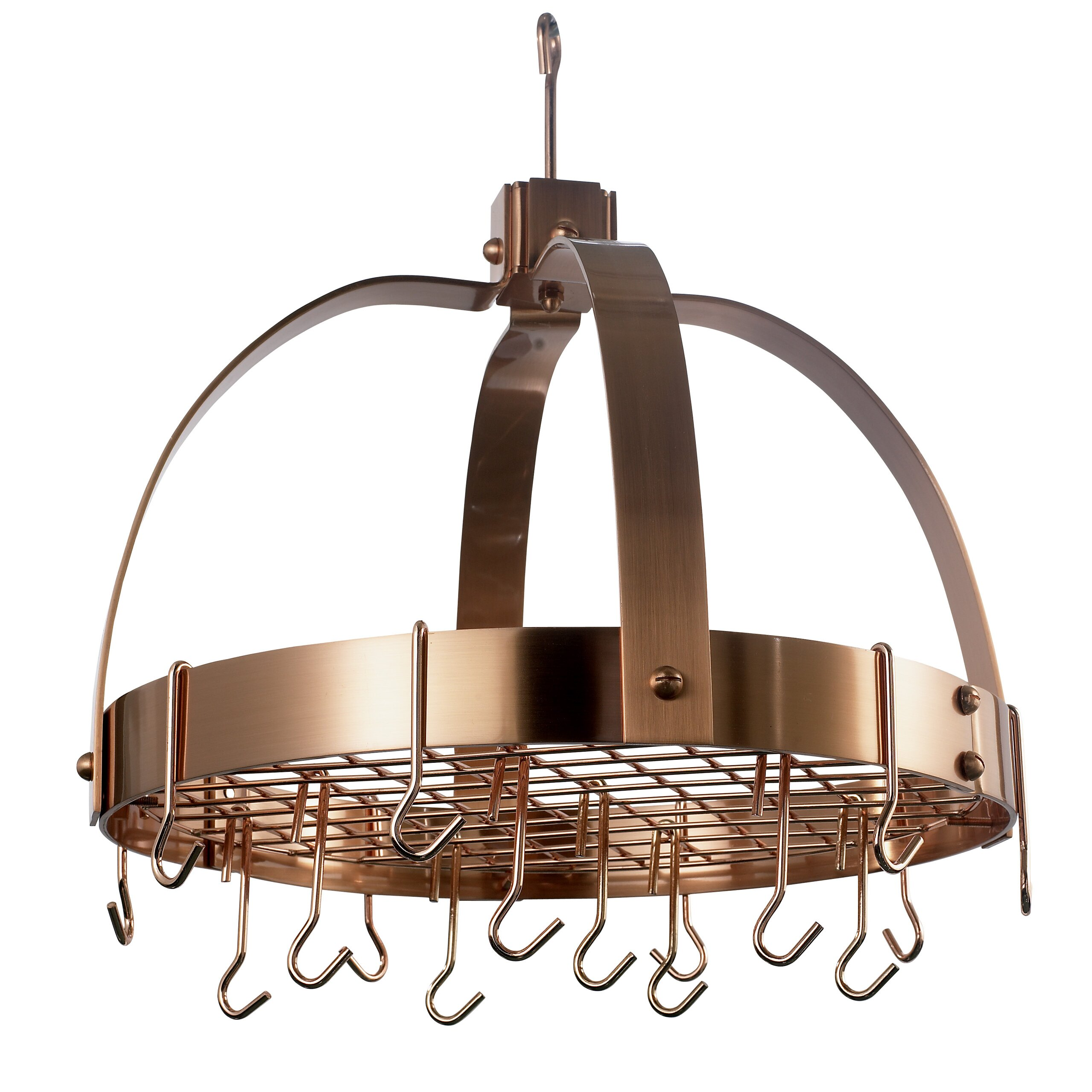 Pot Rack: Old Dutch Dome Decor Pot Rack With Grid And Hooks