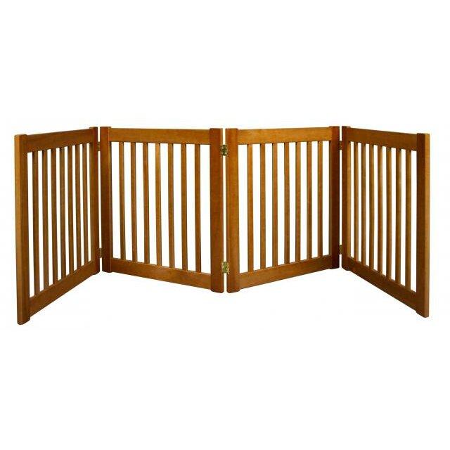free standing walk through pet gate 1