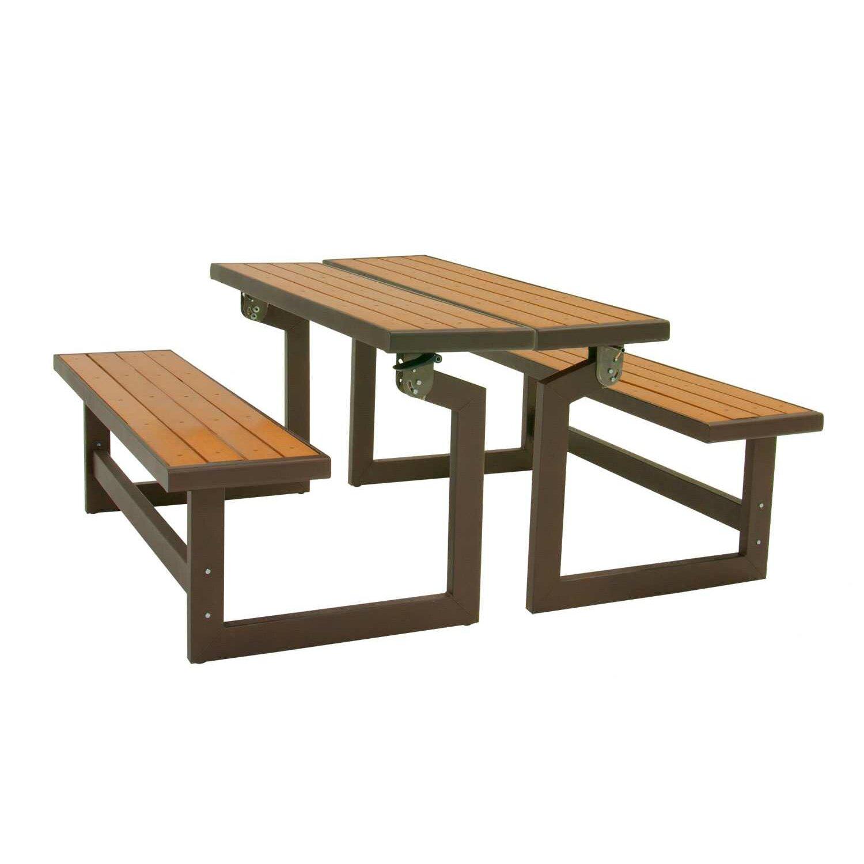 Lifetime convertible wood and metal park bench reviews - Banco convertible en mesa ...