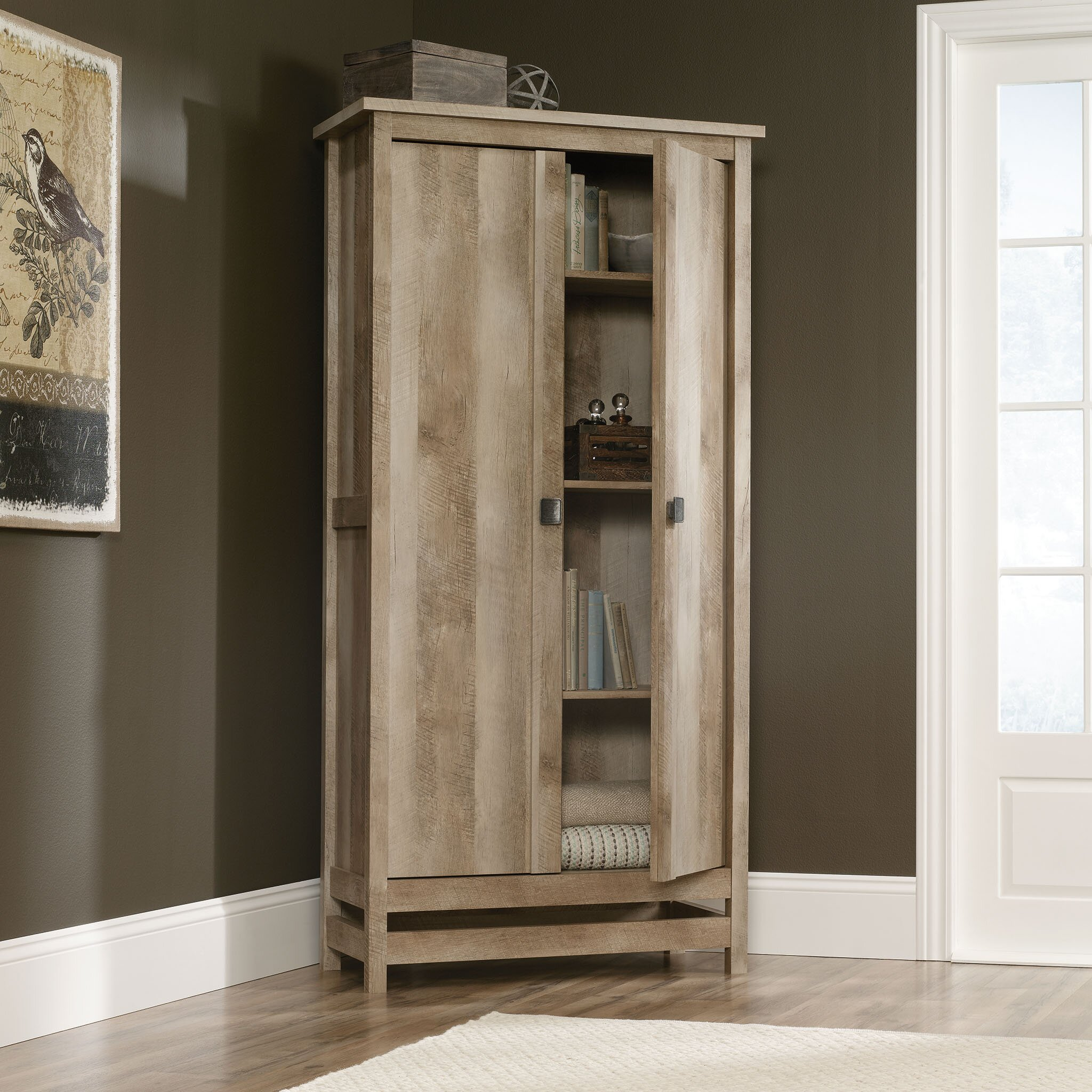 Pantry Cabinet: Sauder Pantry Cabinet with Storage Cabinet in ...